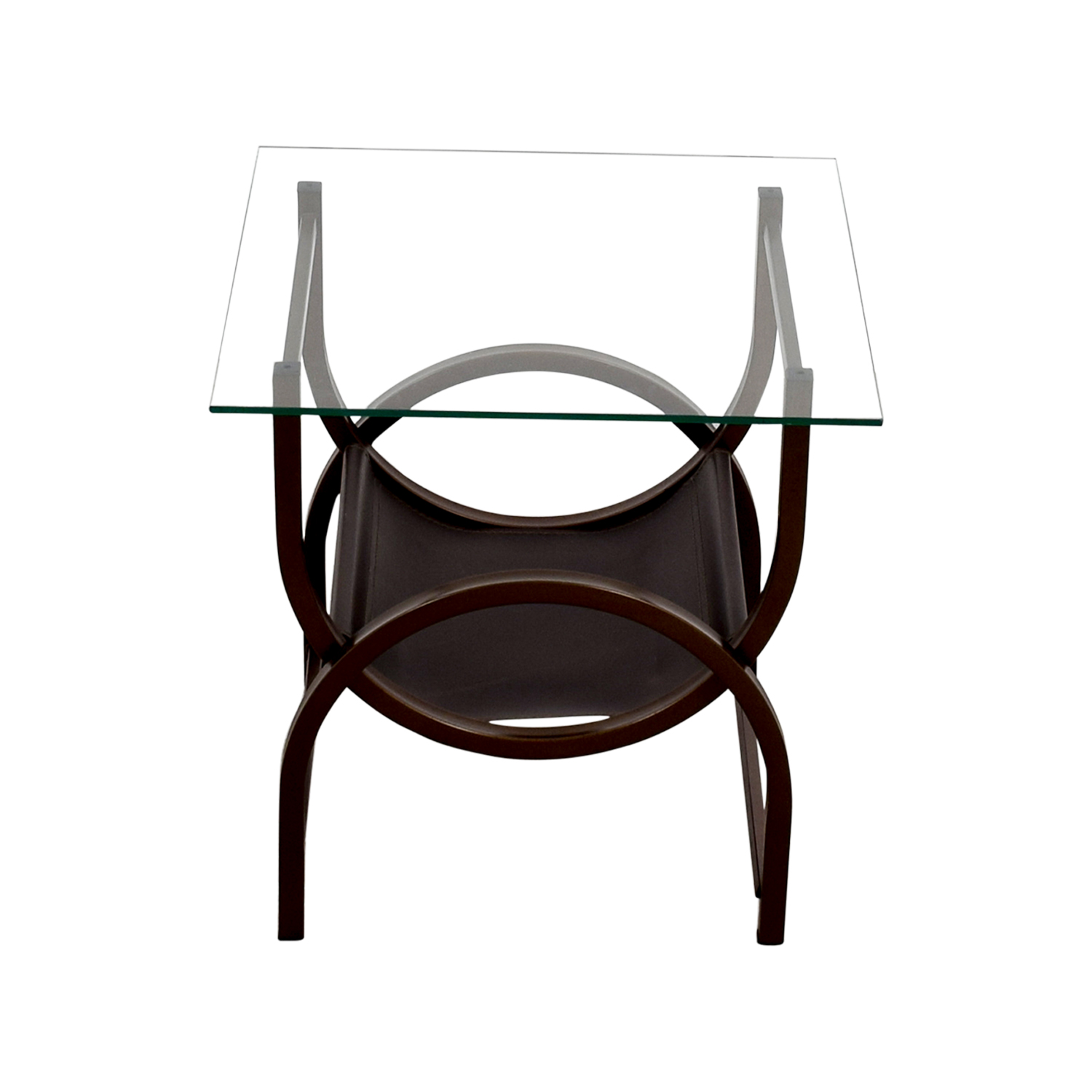 ... Glass And Wrought Iron Side Table On Sale ...