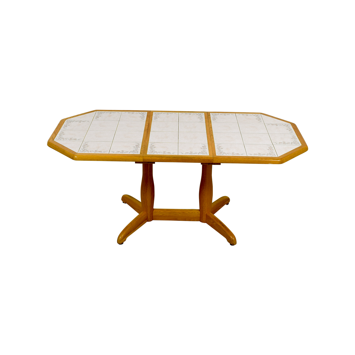 9 OFF   Dinaire Dinaire Wood and Tile Kitchen Table / Tables