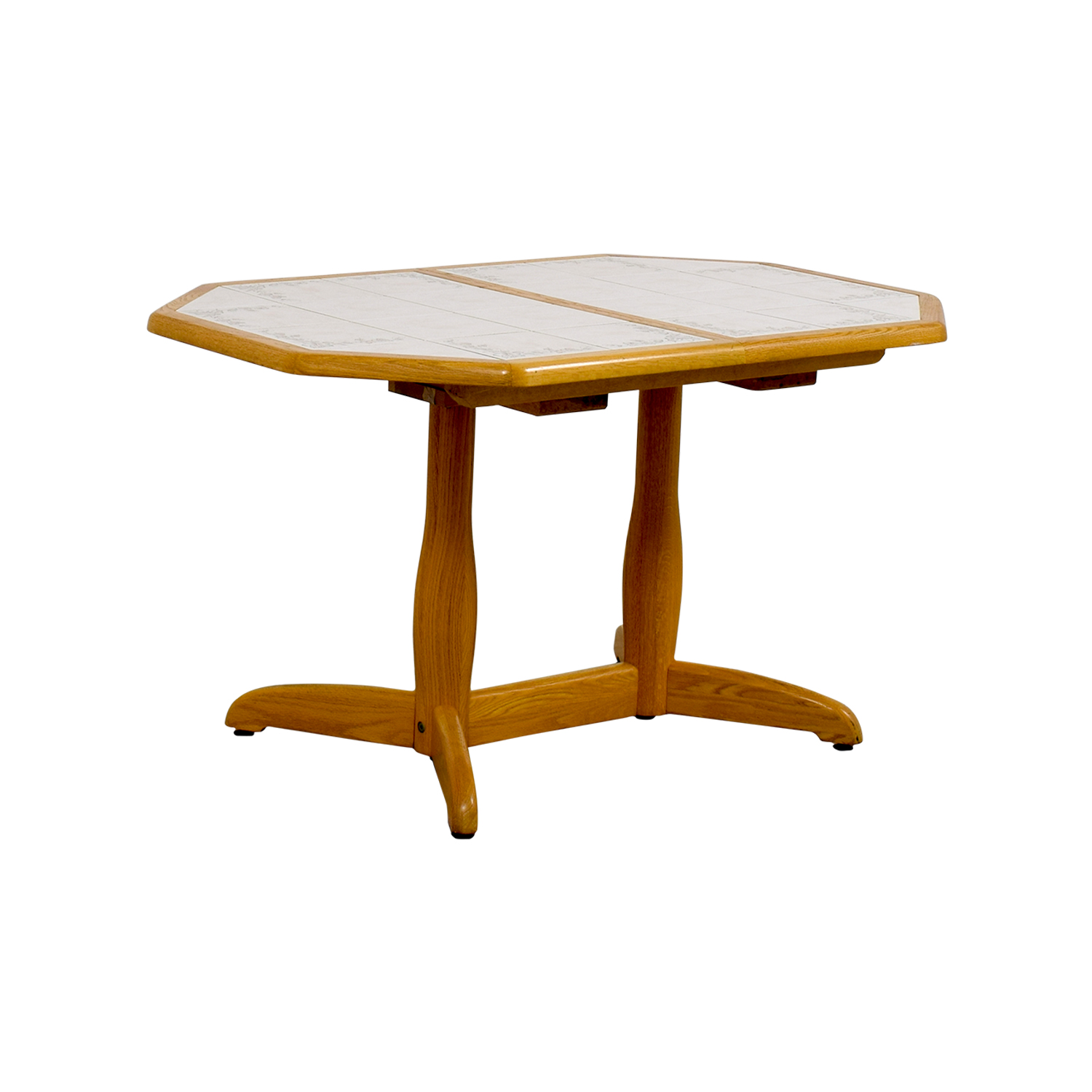 Dinaire Dinaire Wood And Tile Kitchen Table / Tables