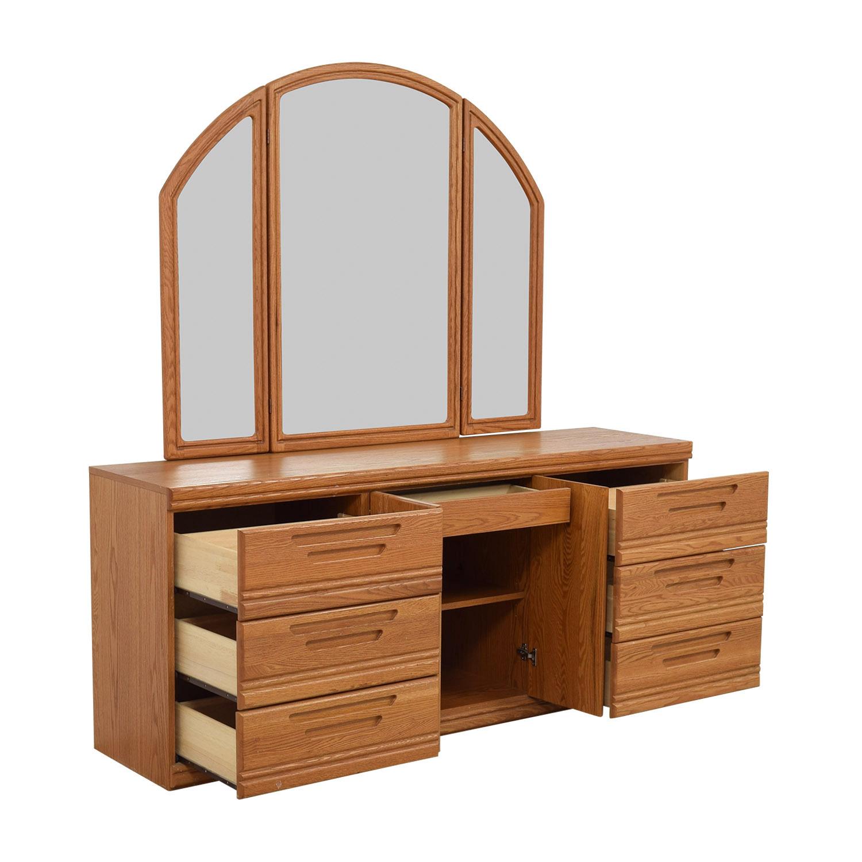 Palliser Six Drawer Dresser With Storage Shelveirror Dressers