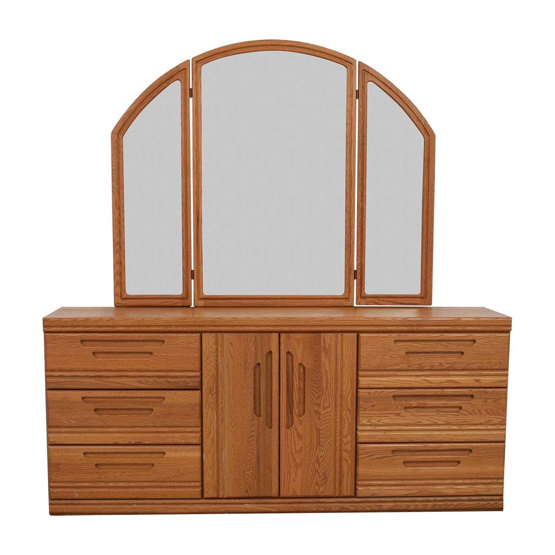 71 Off Palliser Six Drawer Dresser With Storage Shelveirror