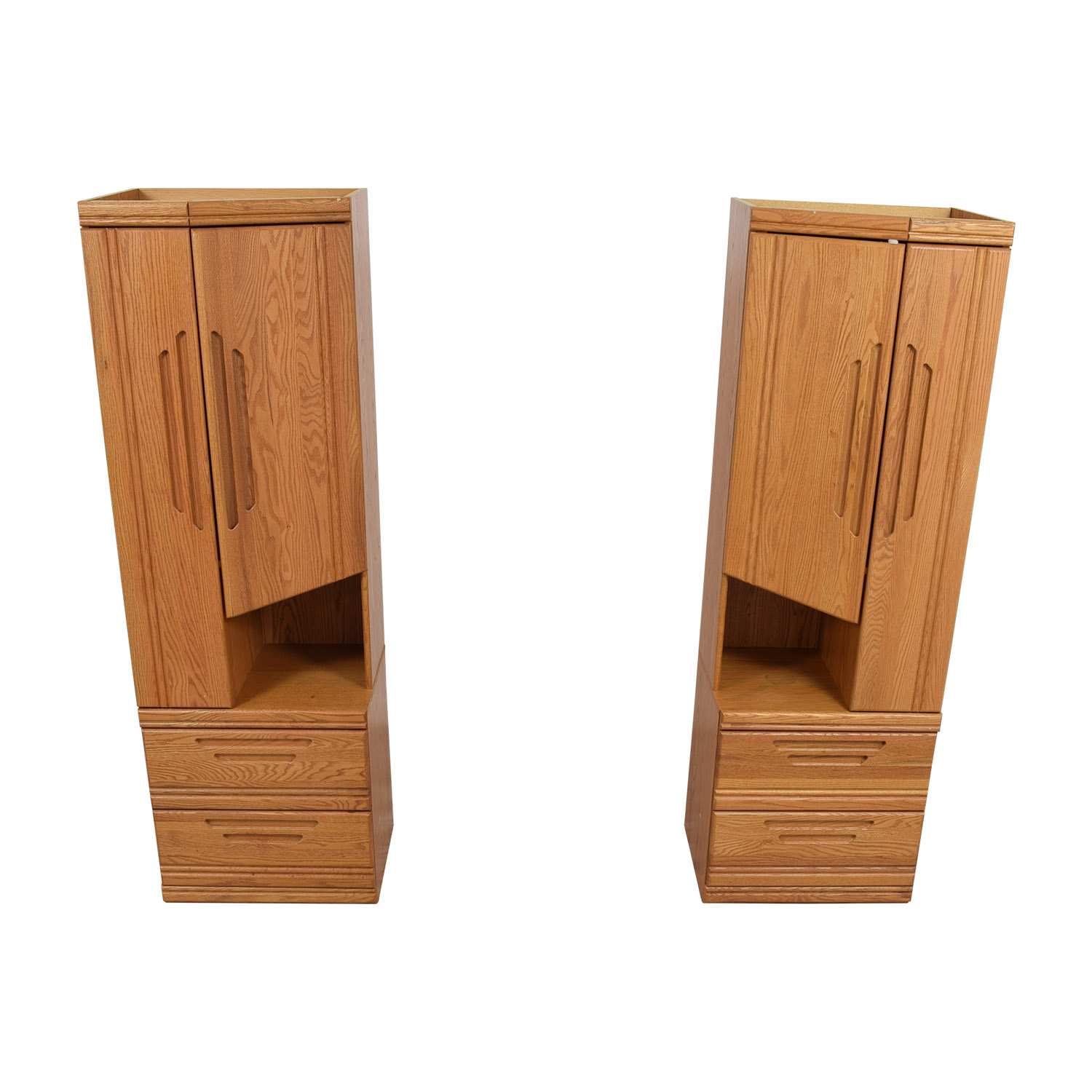 Golden Honey Wood Cabinet Towers sale