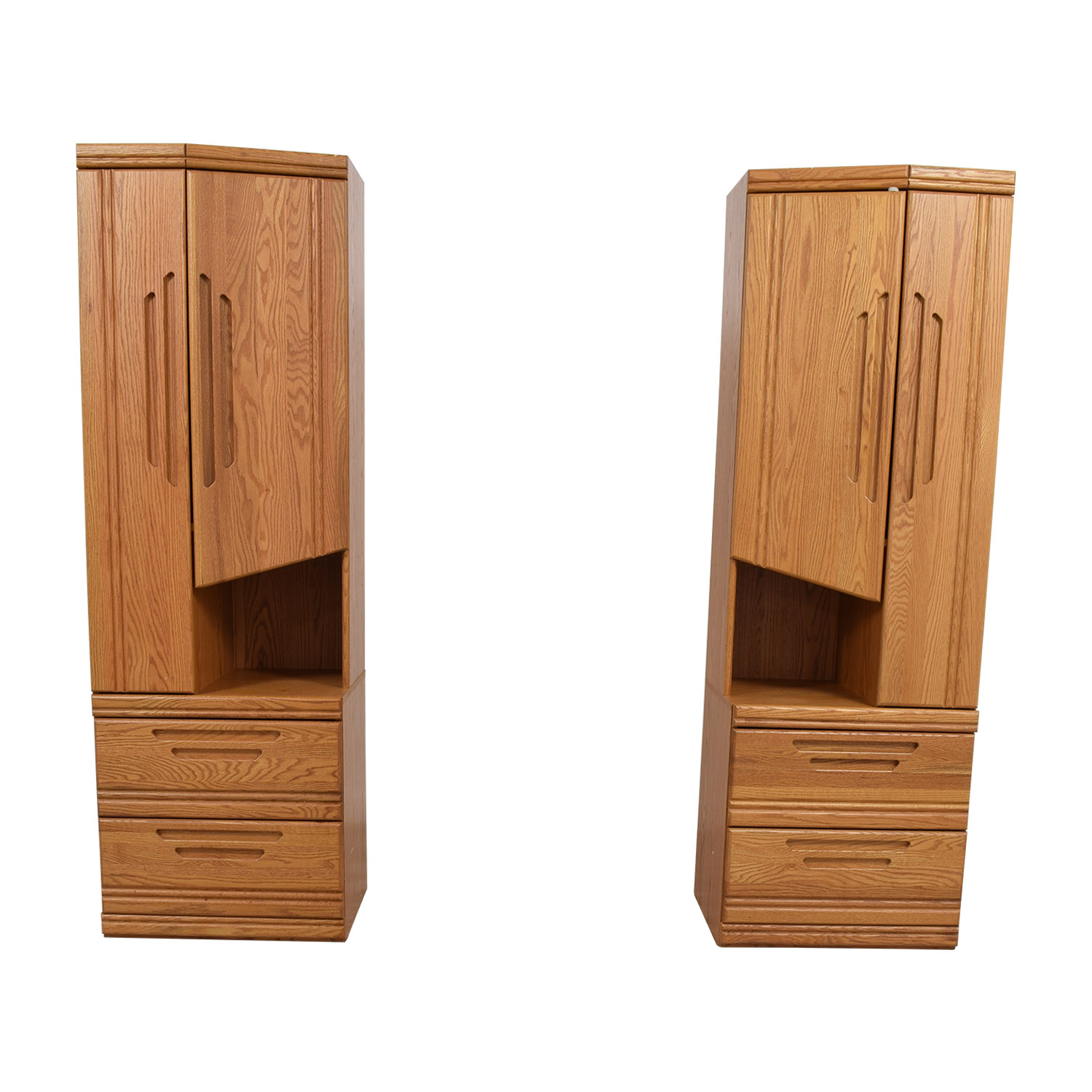 Golden Honey Wood Cabinet Towers coupon