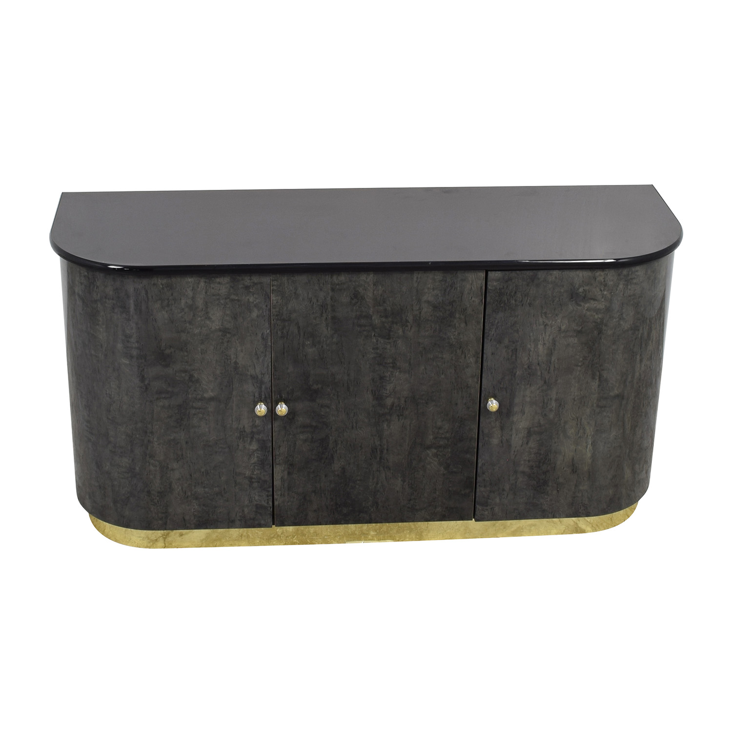 Black Dining Room Cabinet with Gold Accents dimensions