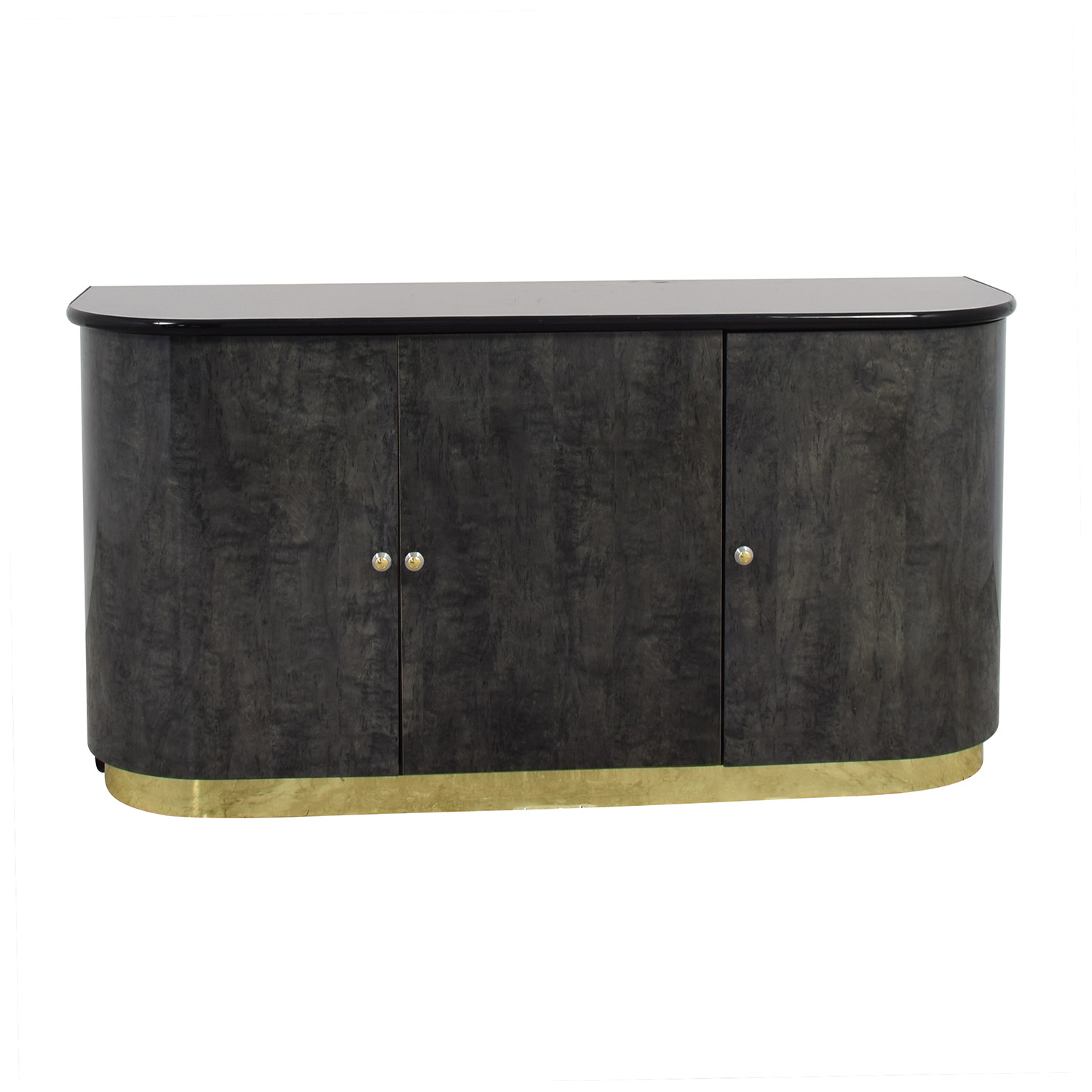 buy Black Dining Room Cabinet with Gold Accents Storage