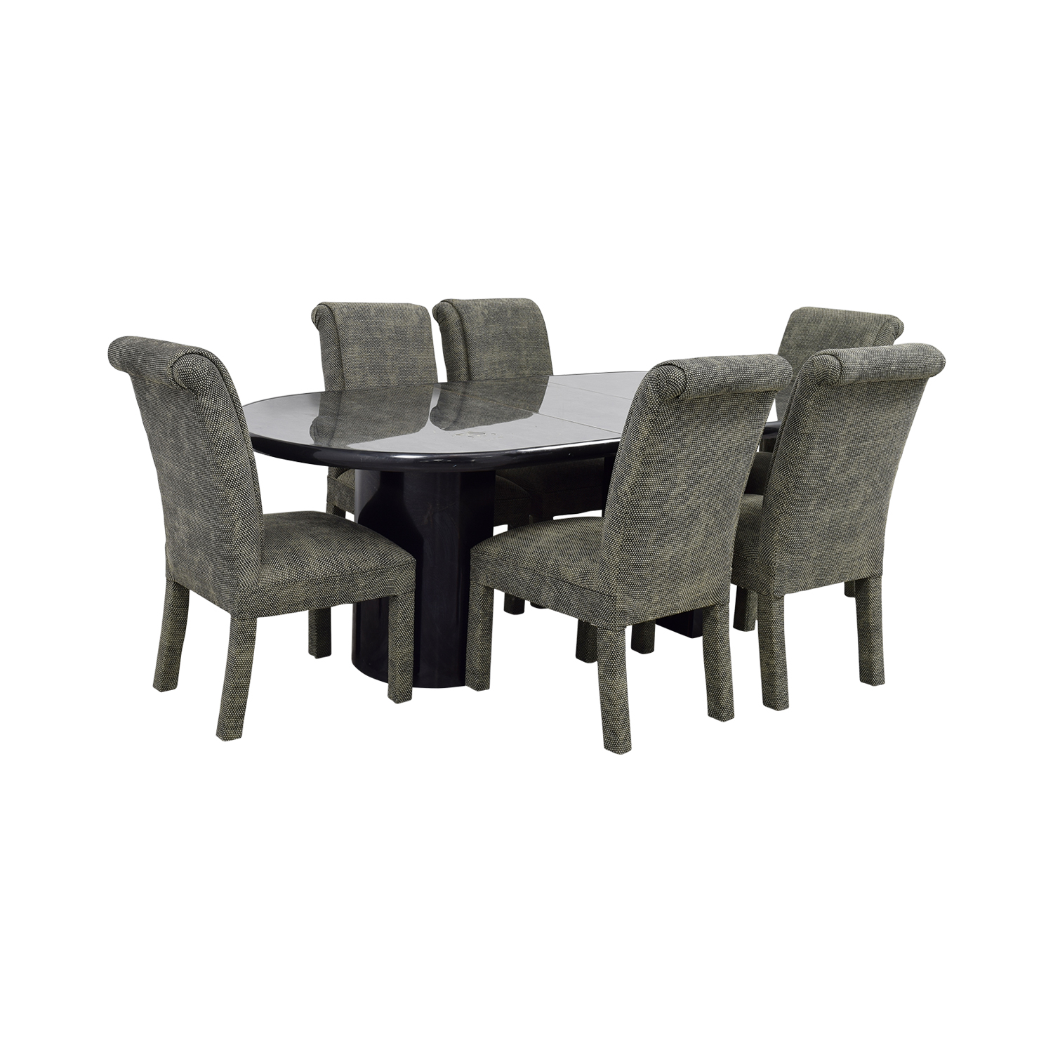 90 Off Charcoal Dining Set With Upholstered Chairs Tables