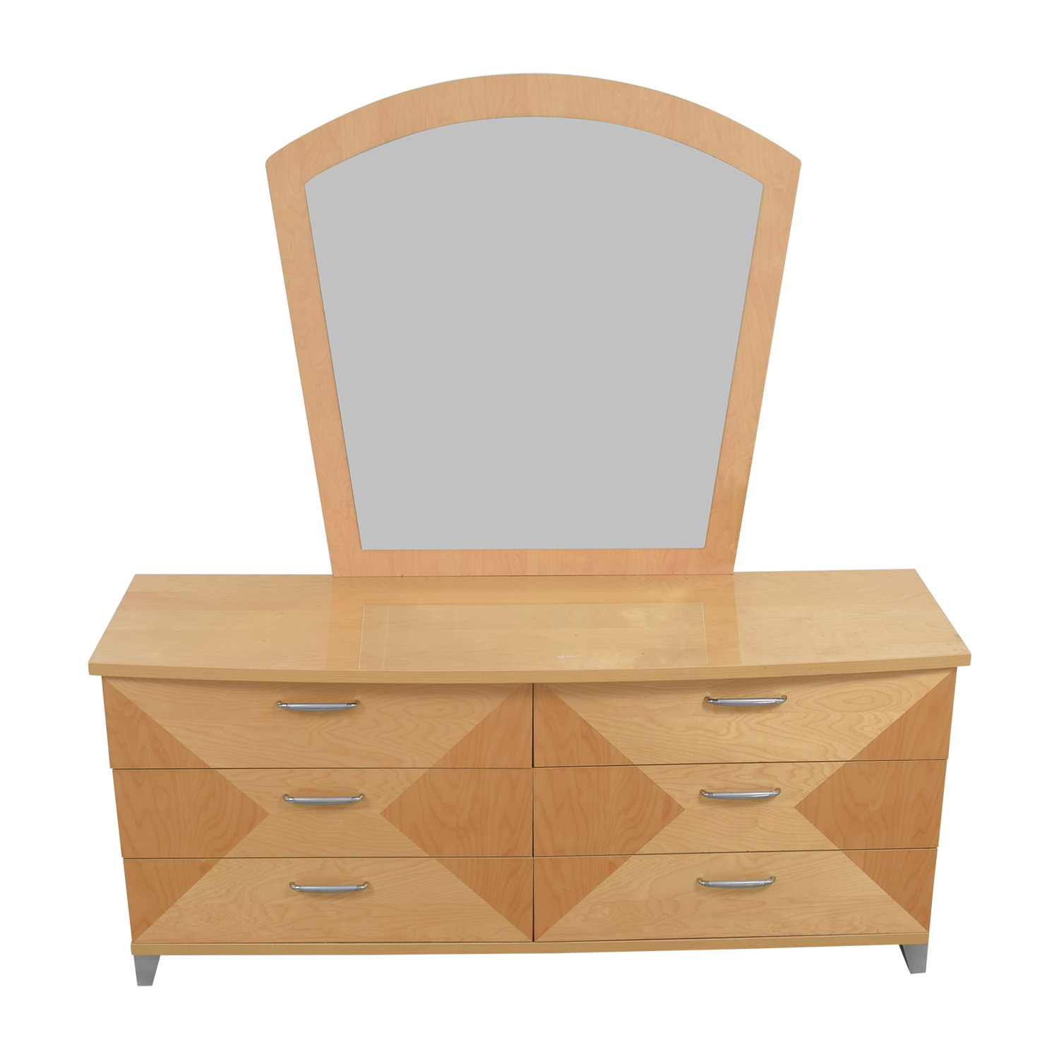 shop Two-Toned Natural Bedroom Dresser with Mirror