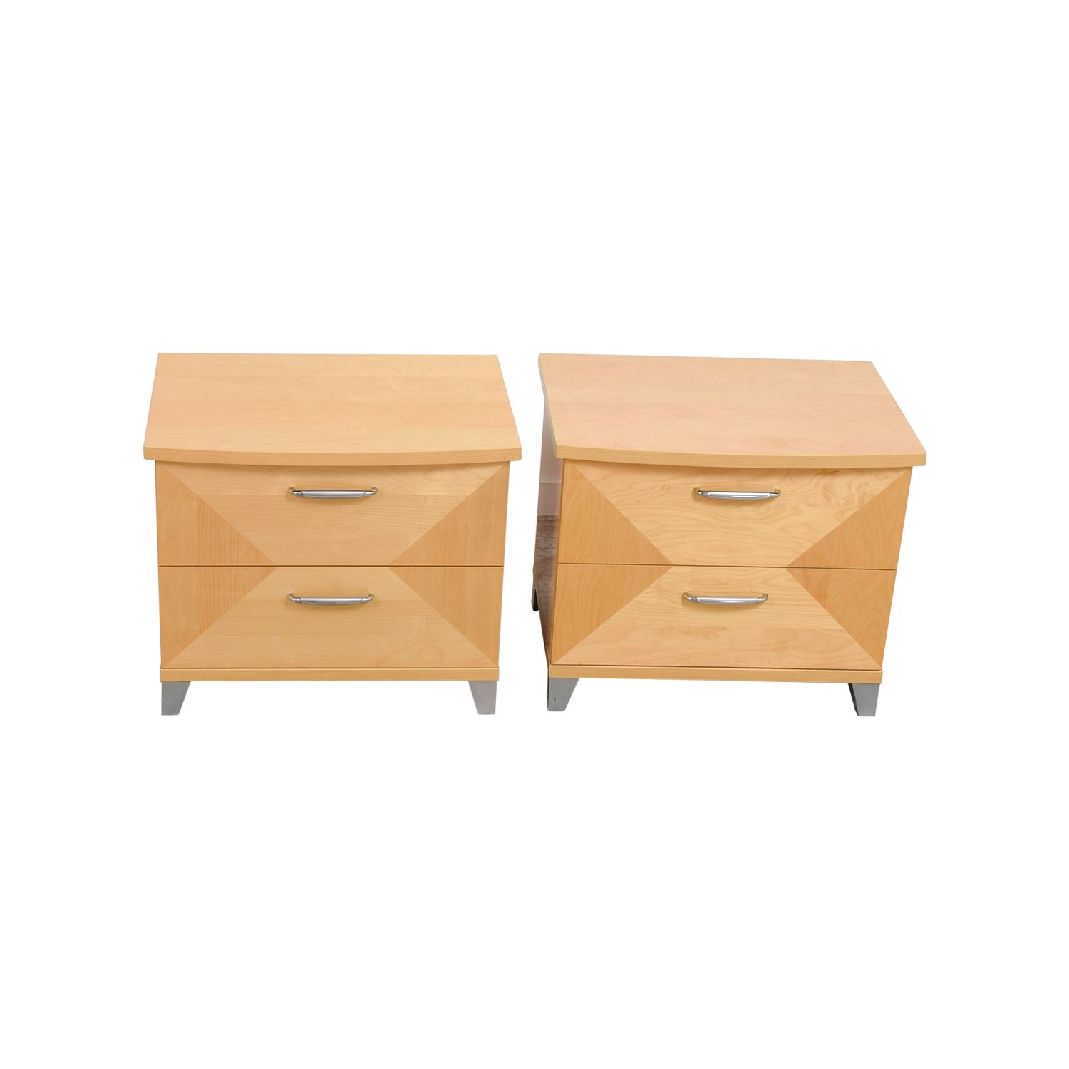 shop Natural Two-Drawer Night Stands Tables