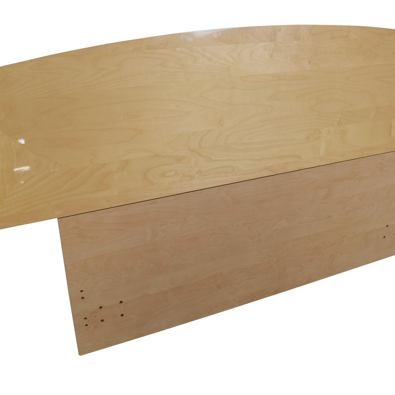 shop Natural Wood Queen Headboard  Headboards
