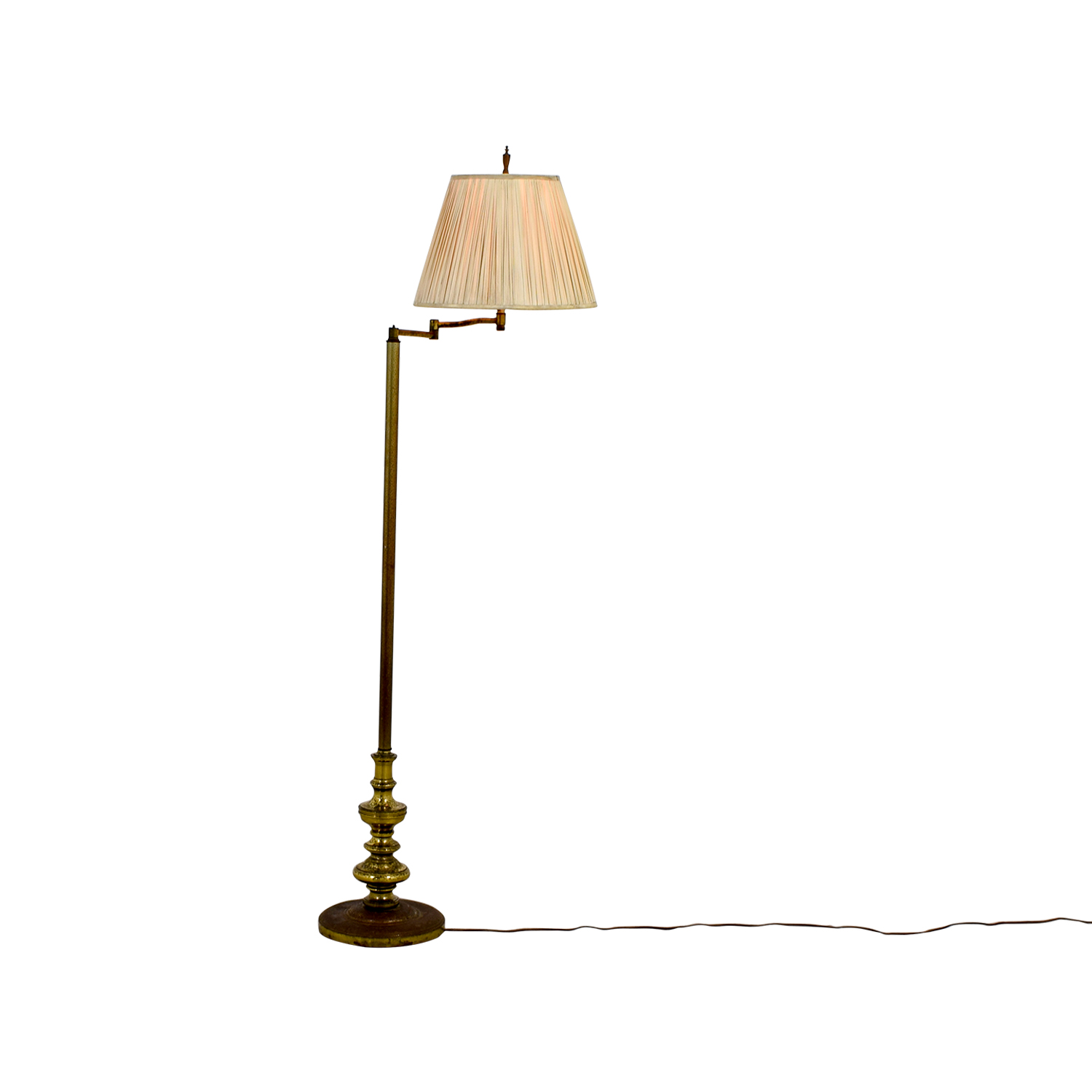 81 off brass floor lamp with accordion shade decor shop brass floor lamp with accordion shade aloadofball Gallery