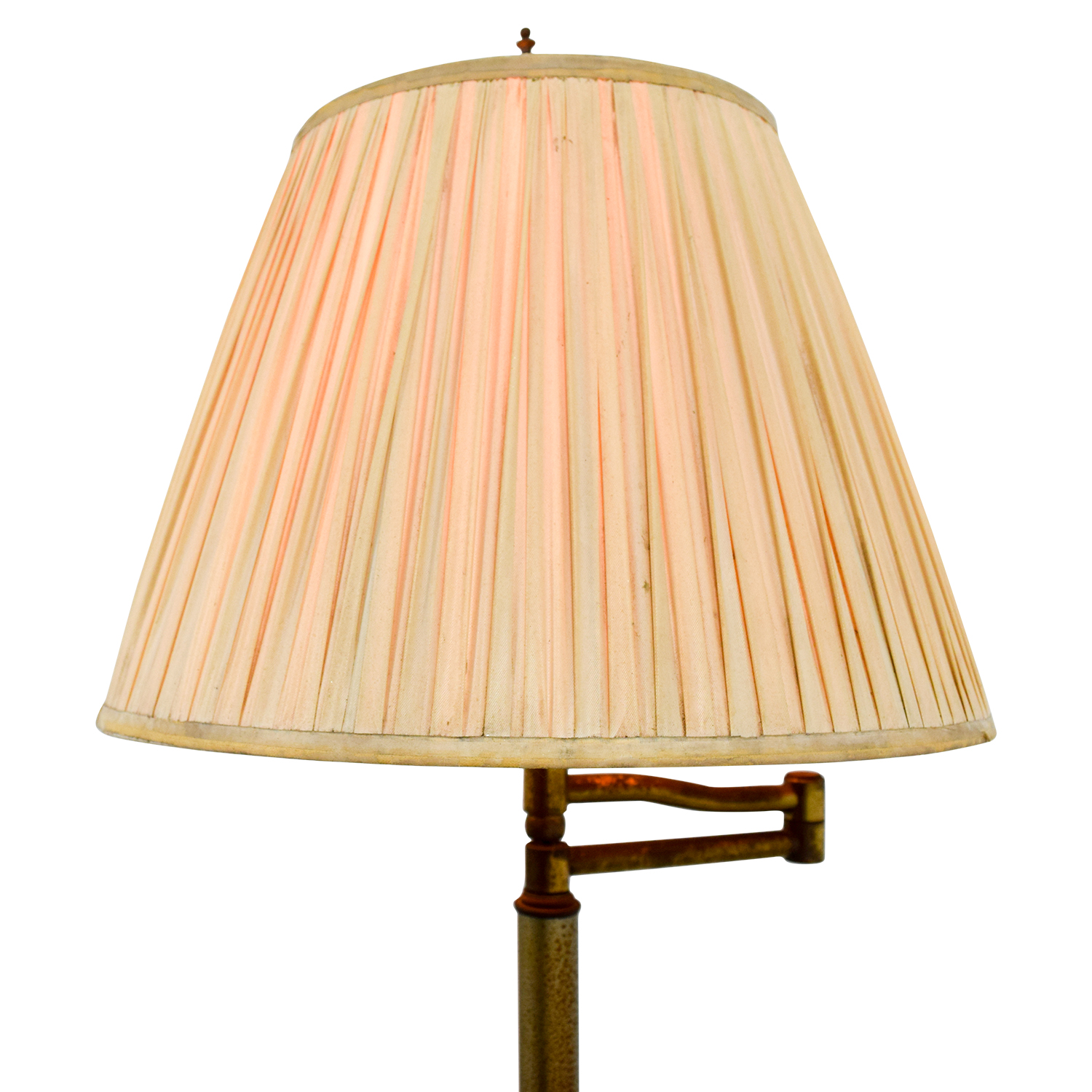 81 off brass floor lamp with accordion shade decor shop brass floor lamp with accordion shade decor aloadofball Gallery