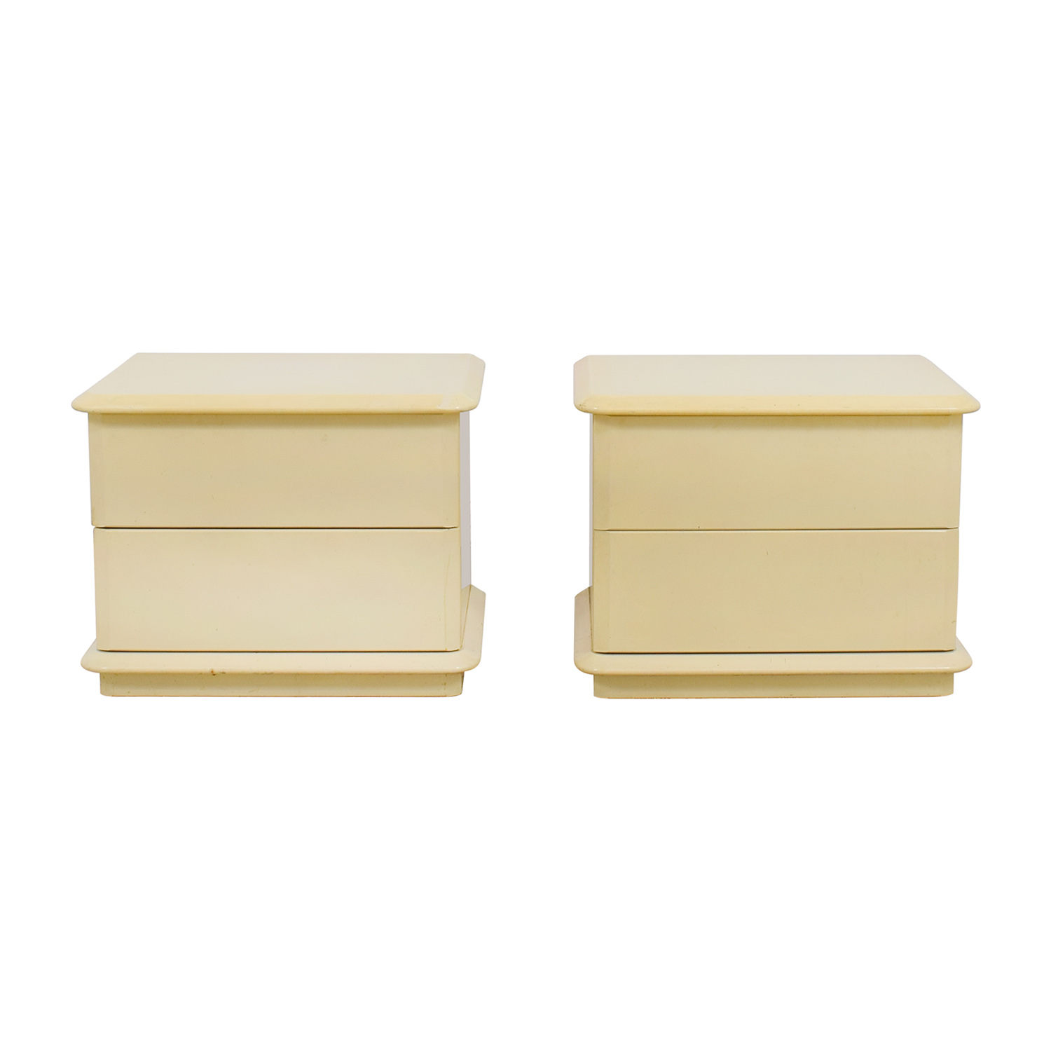 Lane Cream Two-Drawer Night Tables / End Tables