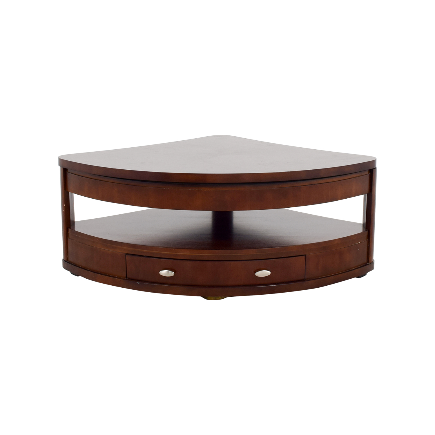 Triangle Coffee Table Wood.90 Off Triangular Rounded Lift Top Coffee Table Tables