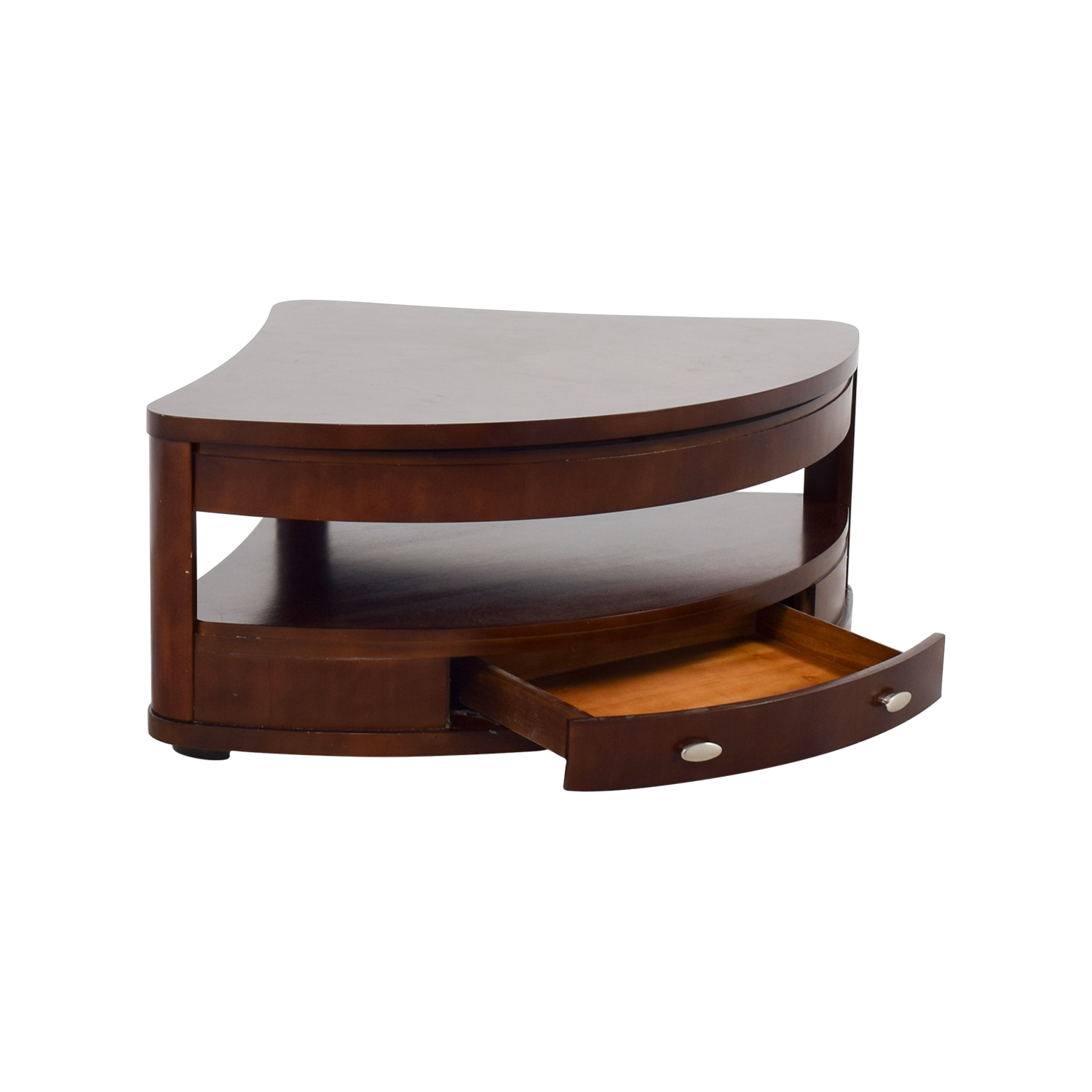 Lift Table Coffee Table: Triangular Rounded Lift-top Coffee Table / Tables