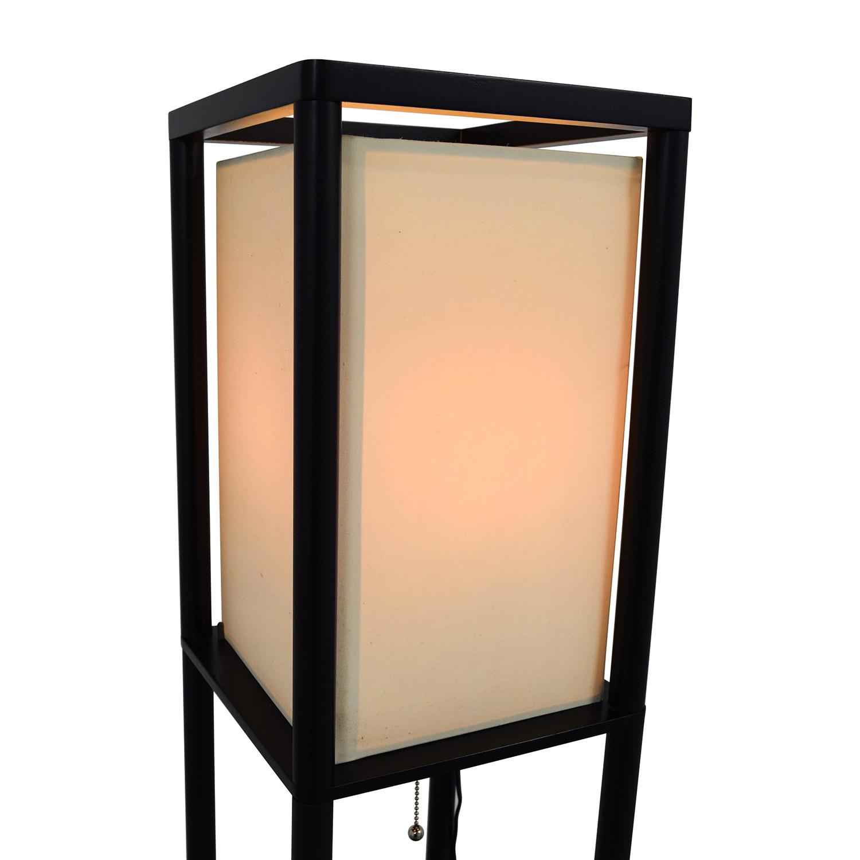35 off threshold threshold shelf floor lamp with shade decor. Black Bedroom Furniture Sets. Home Design Ideas