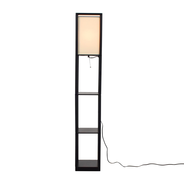 Threshold Threshold Shelf Floor Lamp with Shade nj
