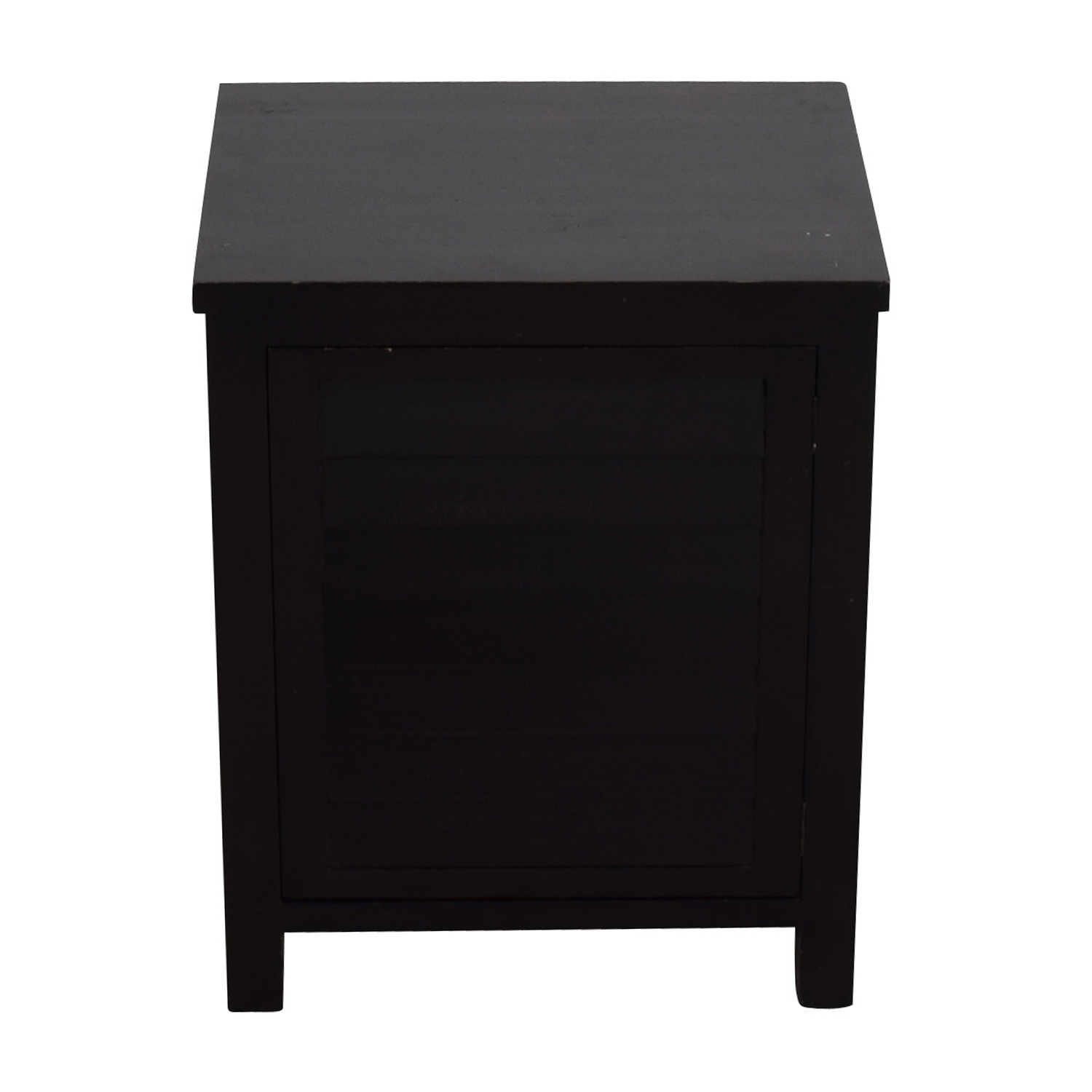 Crate & Barrel Side Table with Storage / End Tables