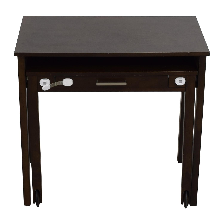 buy Crate & Barrel Wooden Multi-Drawer Desk Crate & Barrel Home Office Desks