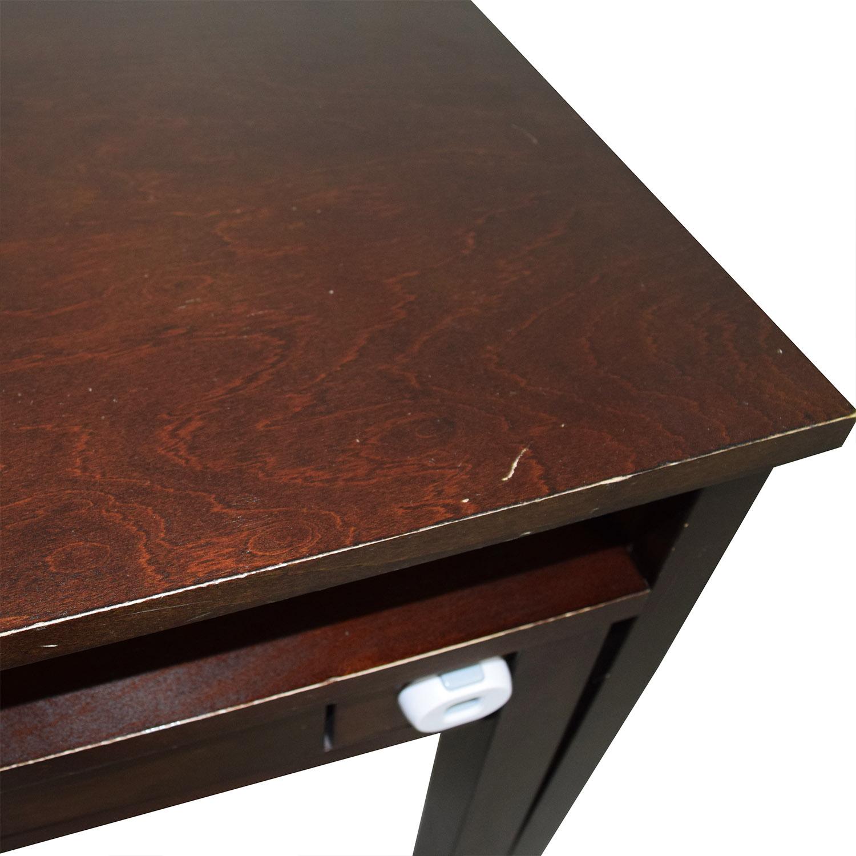 Crate & Barrel Wooden Multi-Drawer Desk Crate & Barrel
