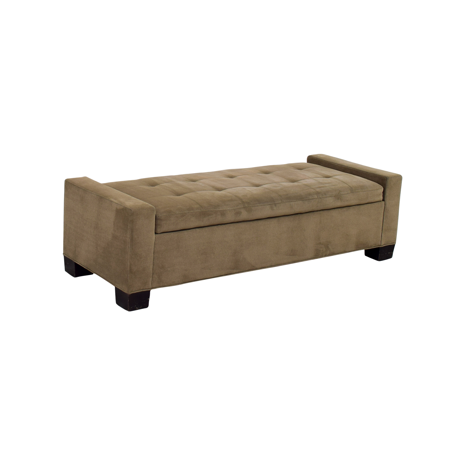 Incroyable ... Crate U0026 Barrel Brown Tufted Daybed Or Storage Bench ...