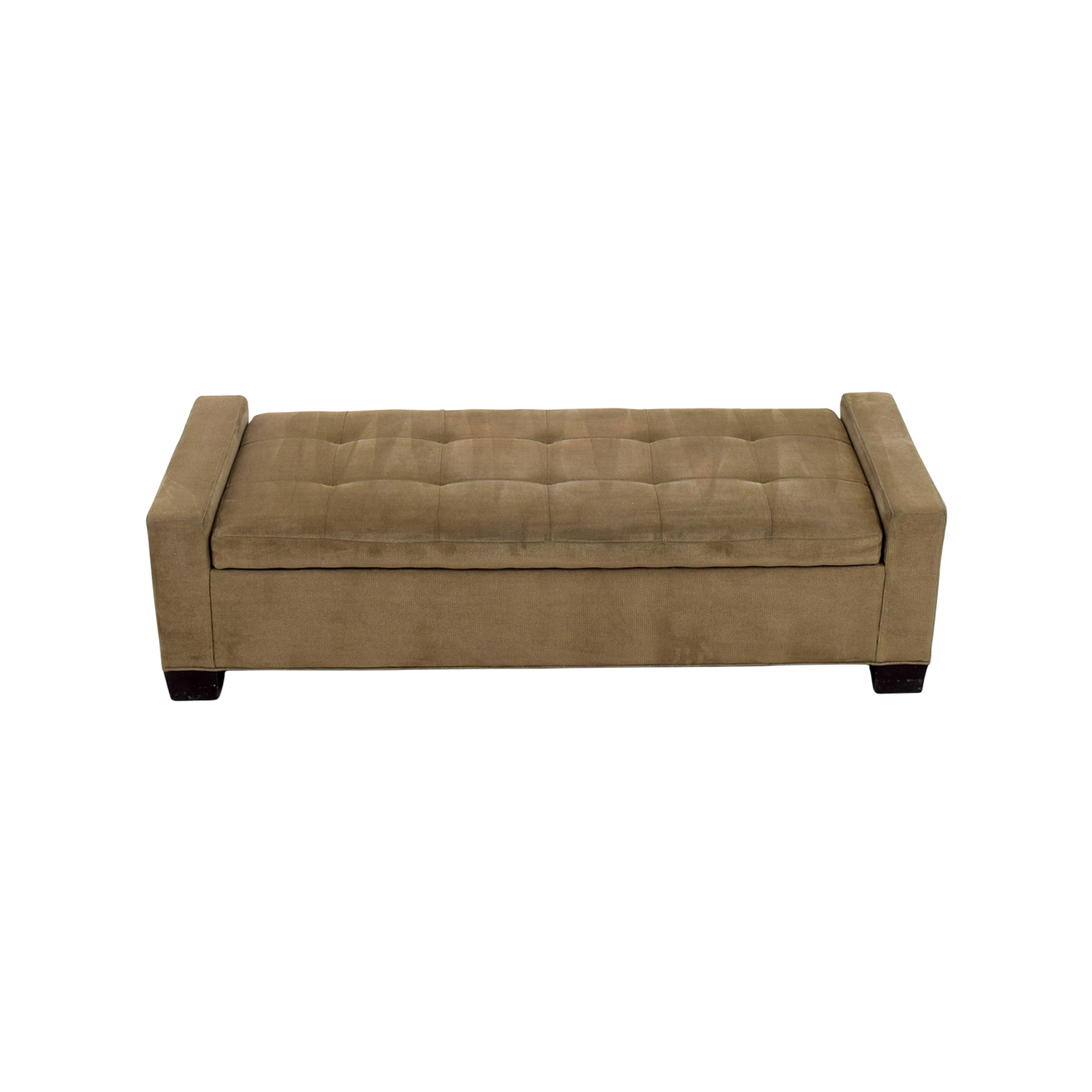buy Crate & Barrel Brown Tufted Daybed or Storage Bench Crate & Barrel Benches