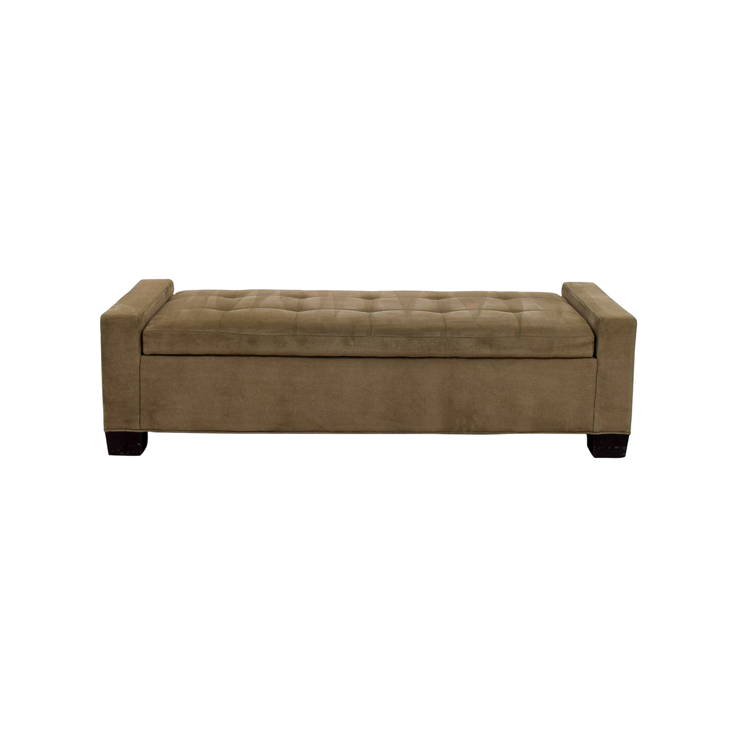 shop Crate & Barrel Brown Tufted Daybed or Storage Bench Crate & Barrel Benches