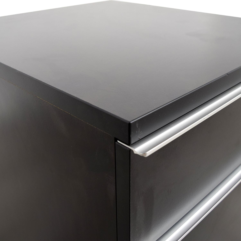 84 Off Ikea Ikea Black File Cabinet Storage