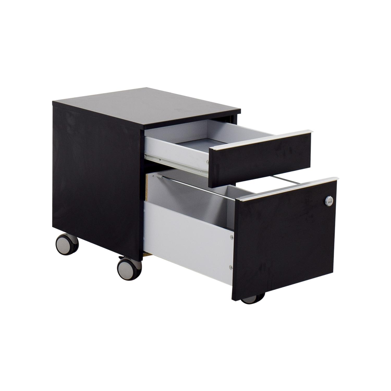 84 off ikea ikea black file cabinet storage for Ikea locker storage