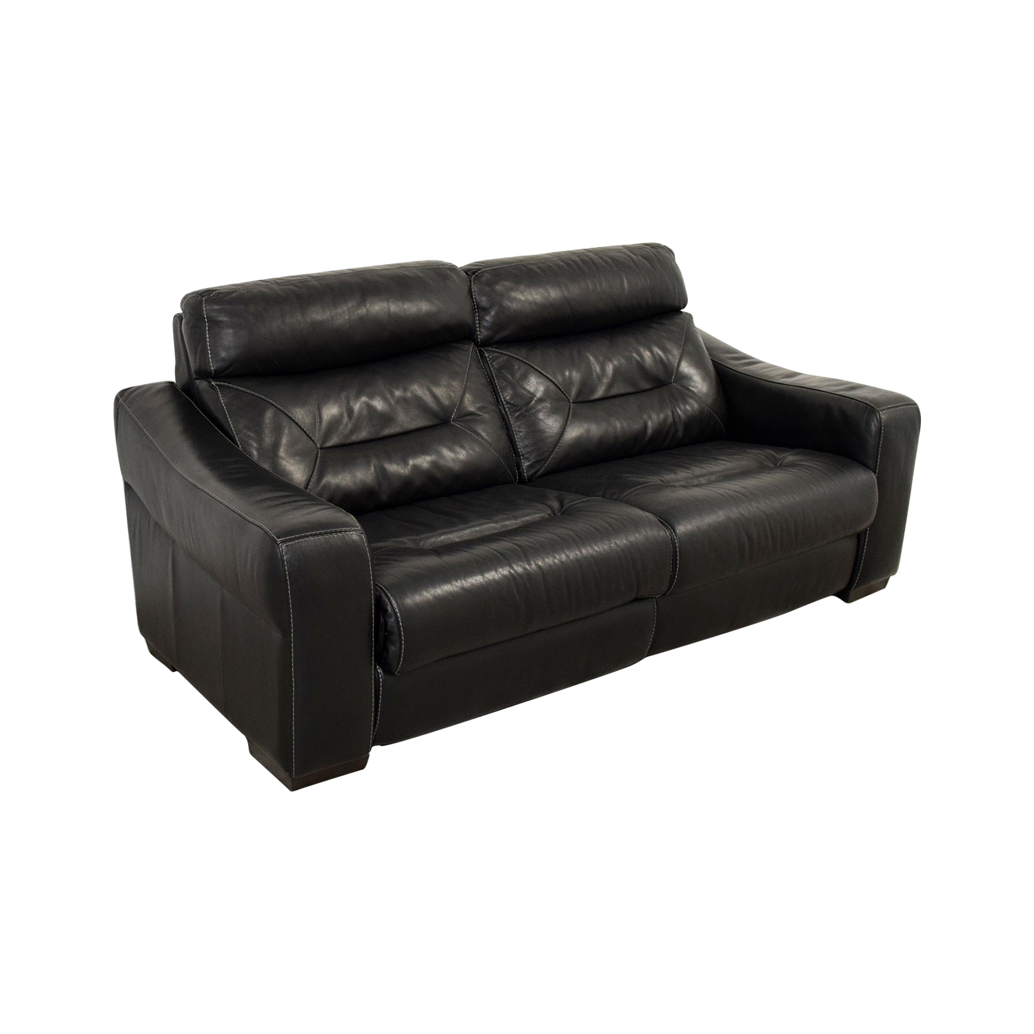 54 Off Macy 39 S Macy 39 S Black Leather Recliner Sofa Chairs
