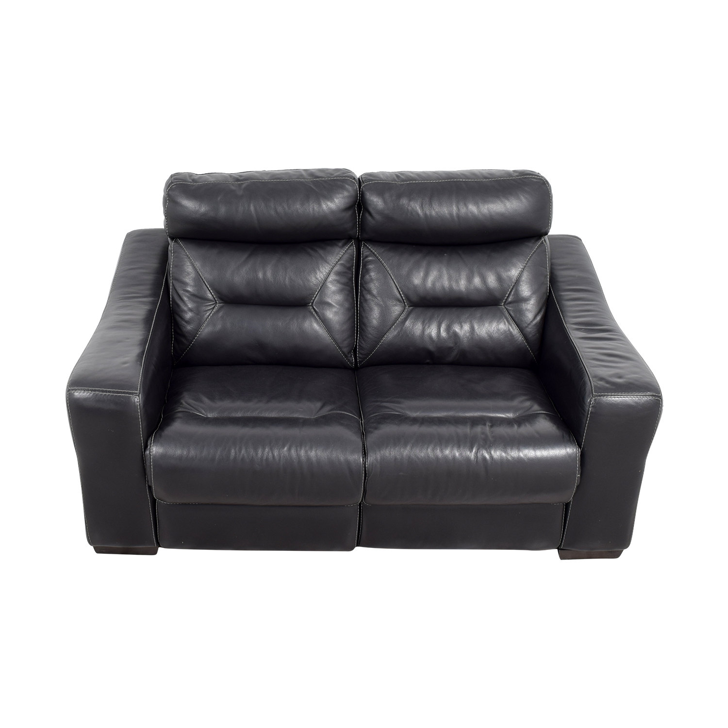 buy Macys Black Leather Recliner Love Seat Macys