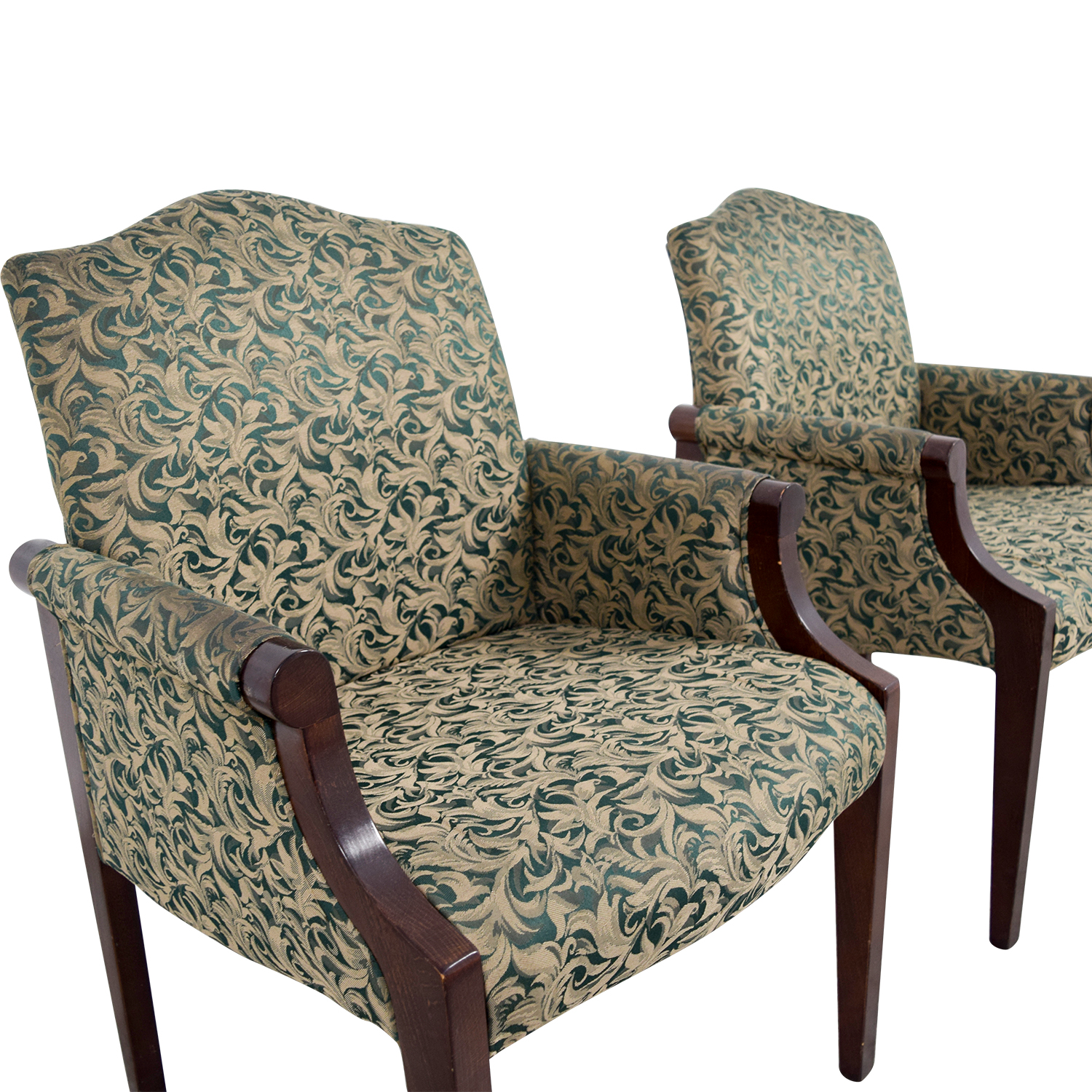 47% OFF Paoli Paoli Green Leaf Upholstered Accent Chairs Chairs