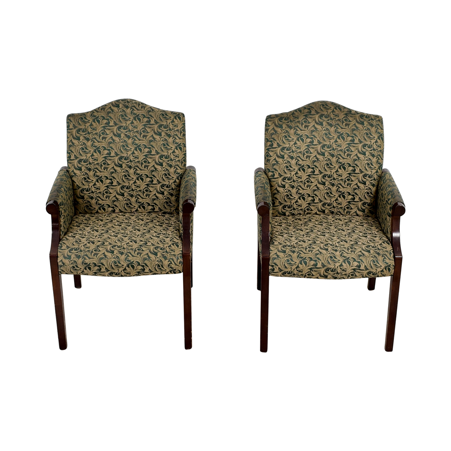 ... Paoli Paoli Green Leaf Upholstered Accent Chairs Second Hand ...