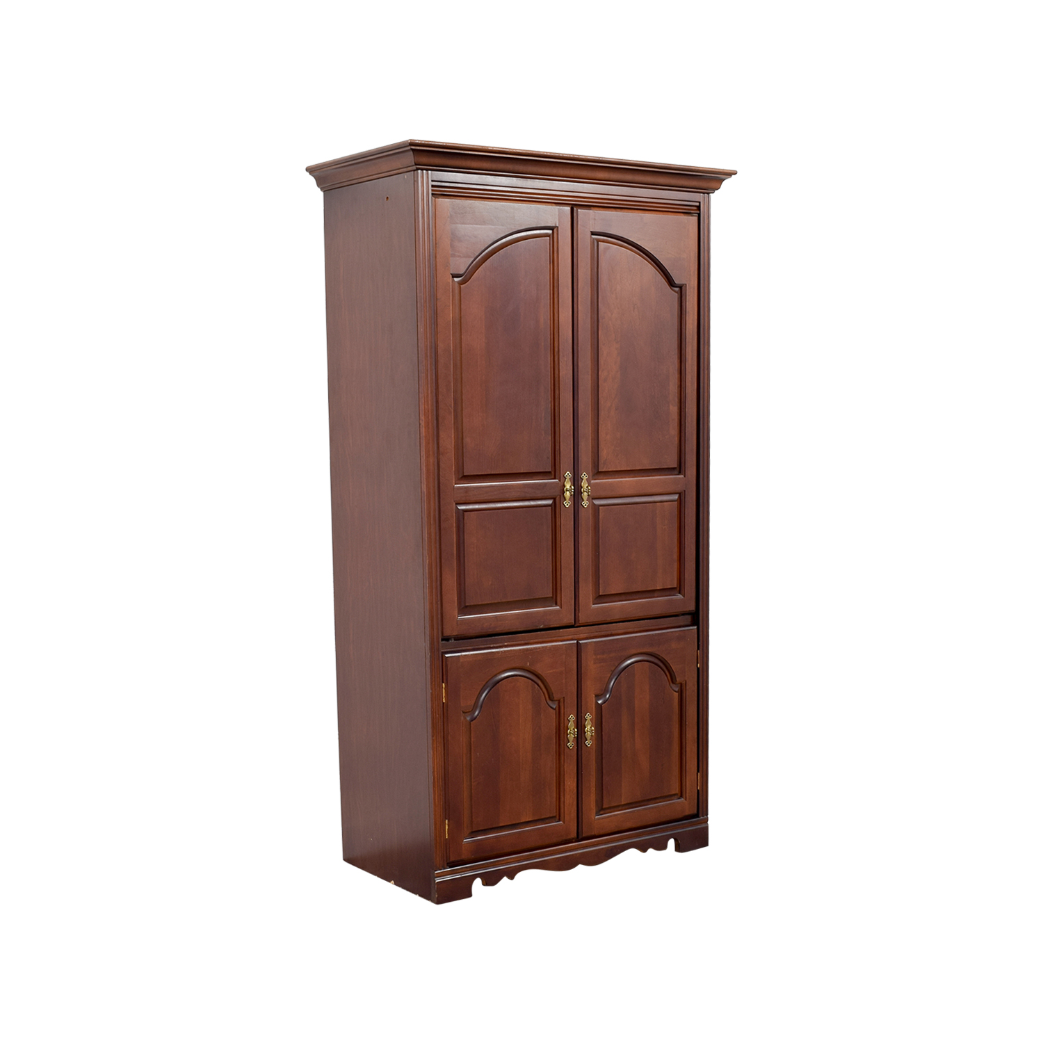 90 off broyhill broyhill tall wooden tv armoire storage for Entertainment armoire