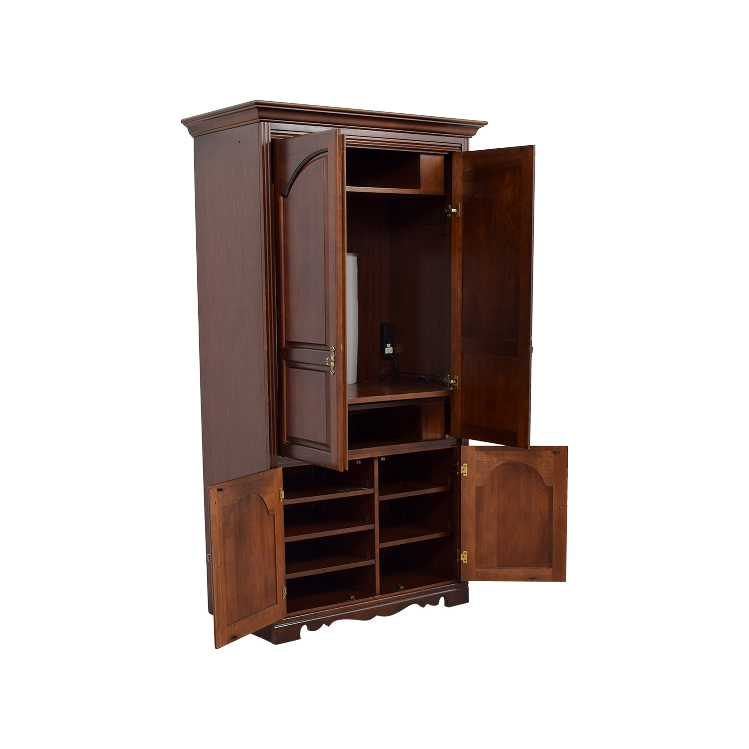 Off broyhill tall wooden tv armoire storage