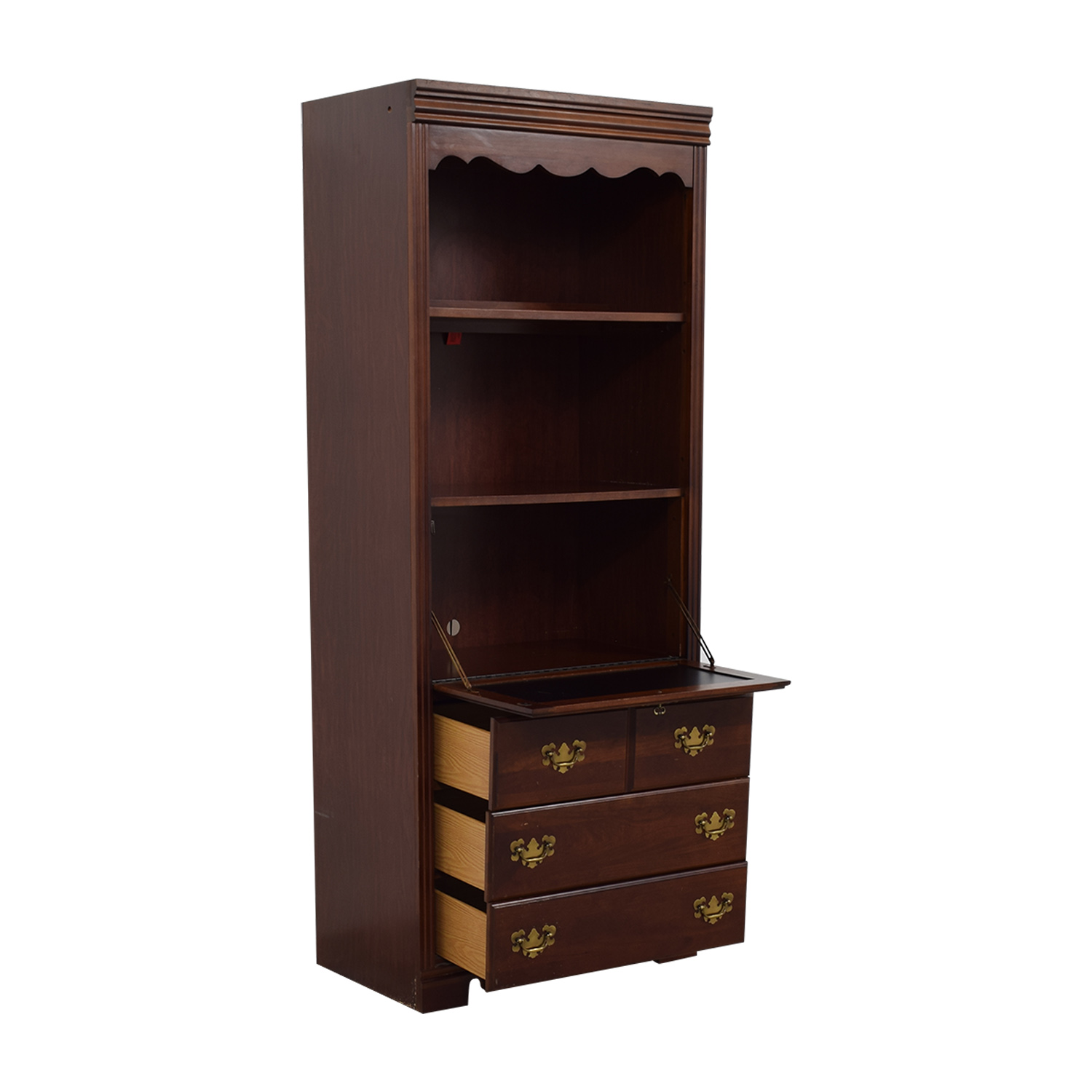 Broyhill Dovetailed Bookshelf With Drop Down Desk