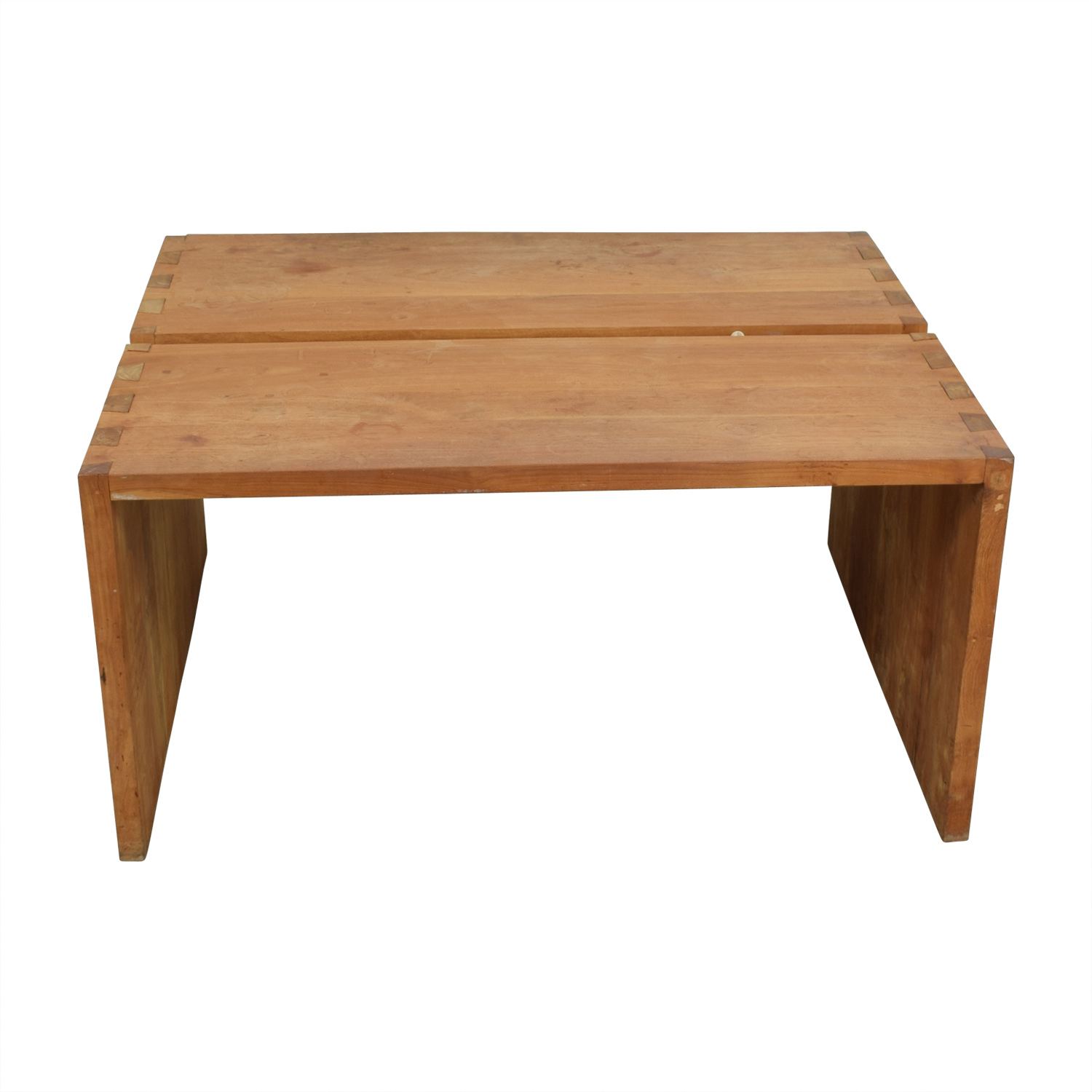 buy Teak Wood Double Desk