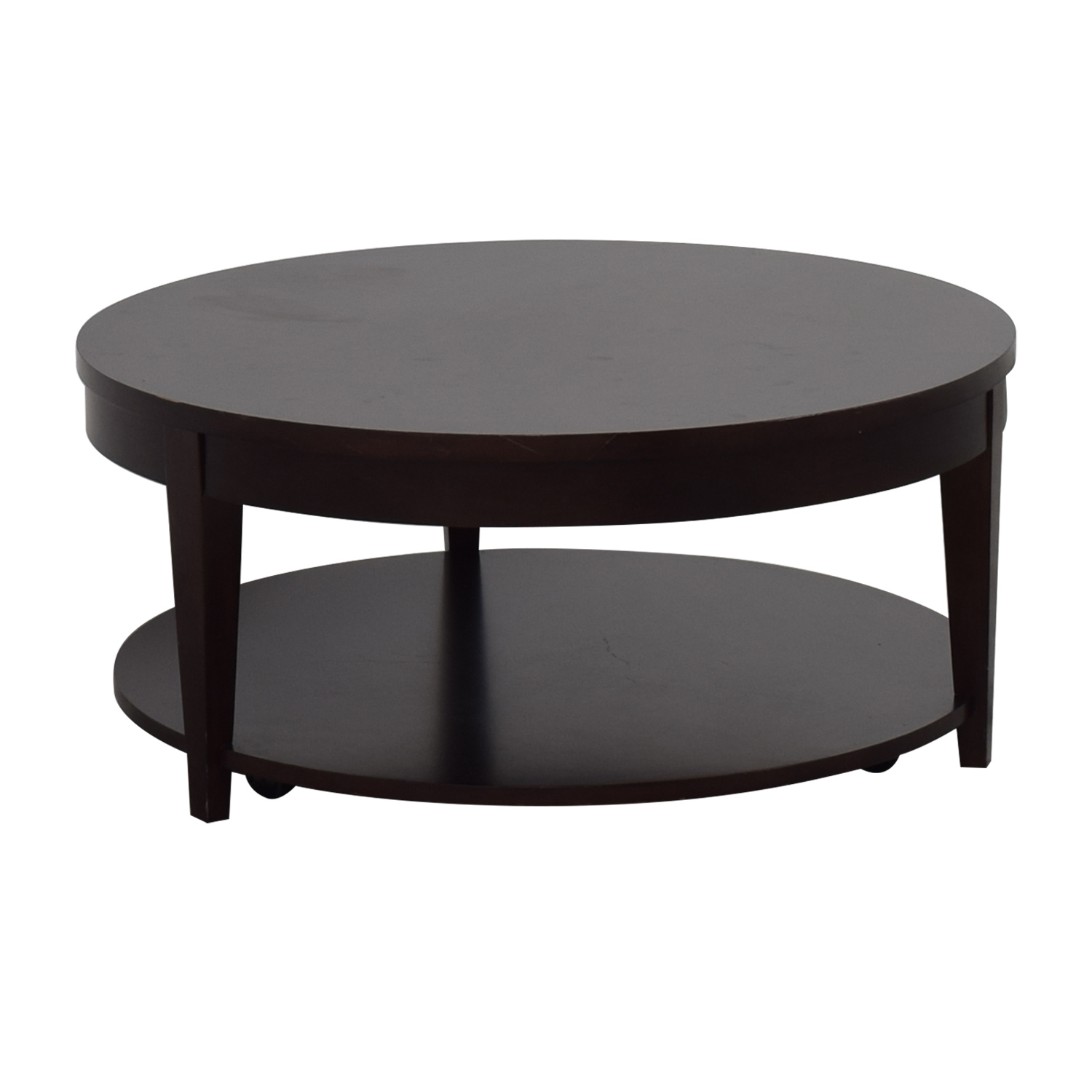 87 Off Macy 39 S Macy 39 S Modern Rolling Round Coffee Table Tables