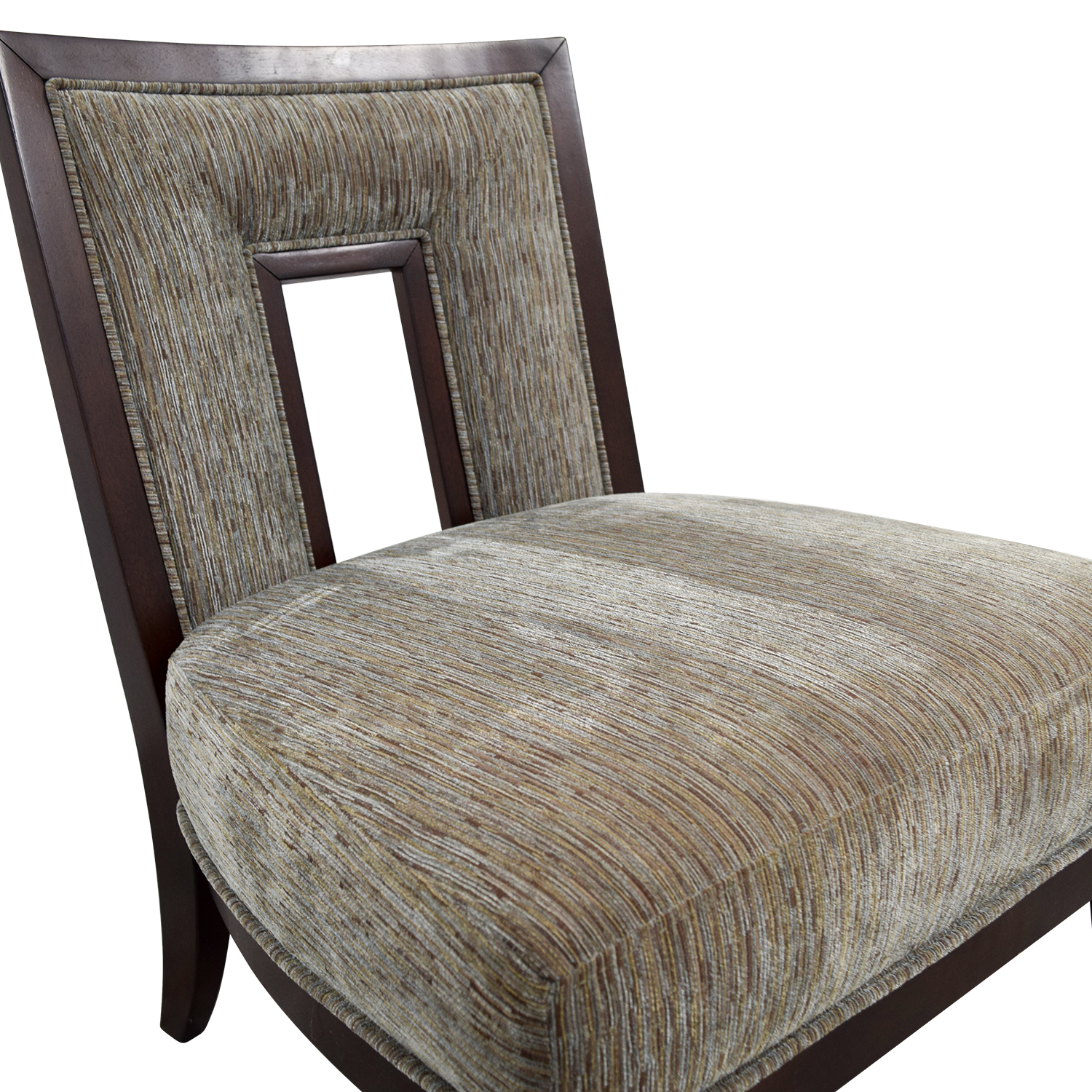 71 Off Grey Multi Colored Cut Out Back Accent Chair