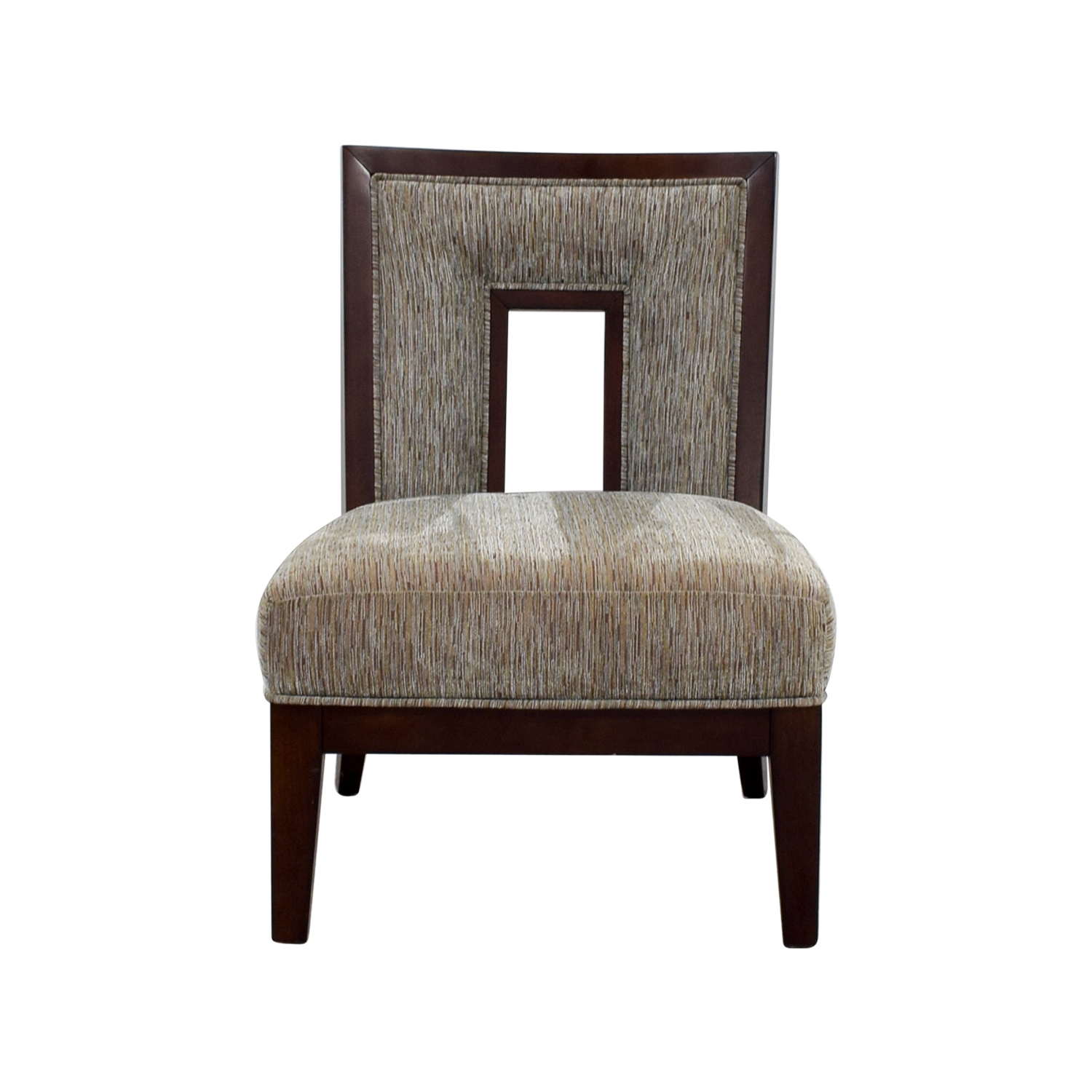 Grey Multi-Colored Cut-out Back Accent Chair price