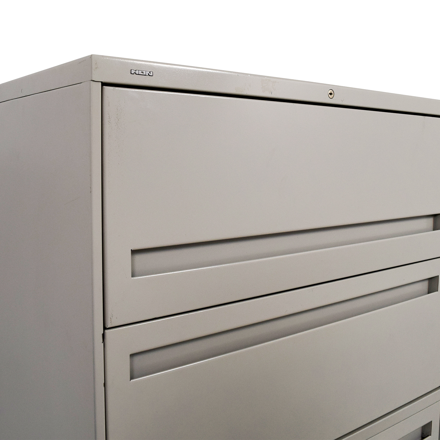 ... Hon White Five Drawer Lateral File Cabinet / Storage