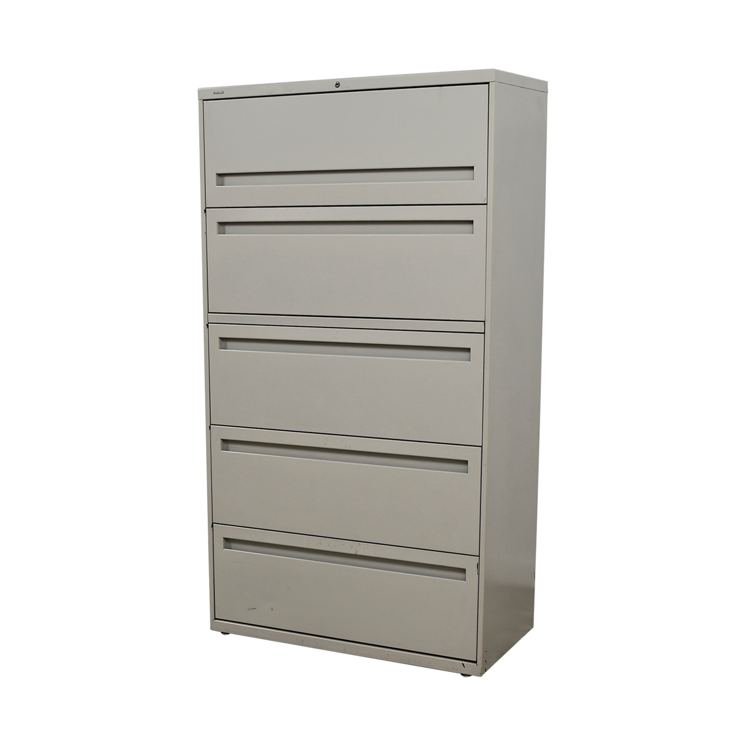 Hon White Five Drawer Lateral File Cabinet Storage