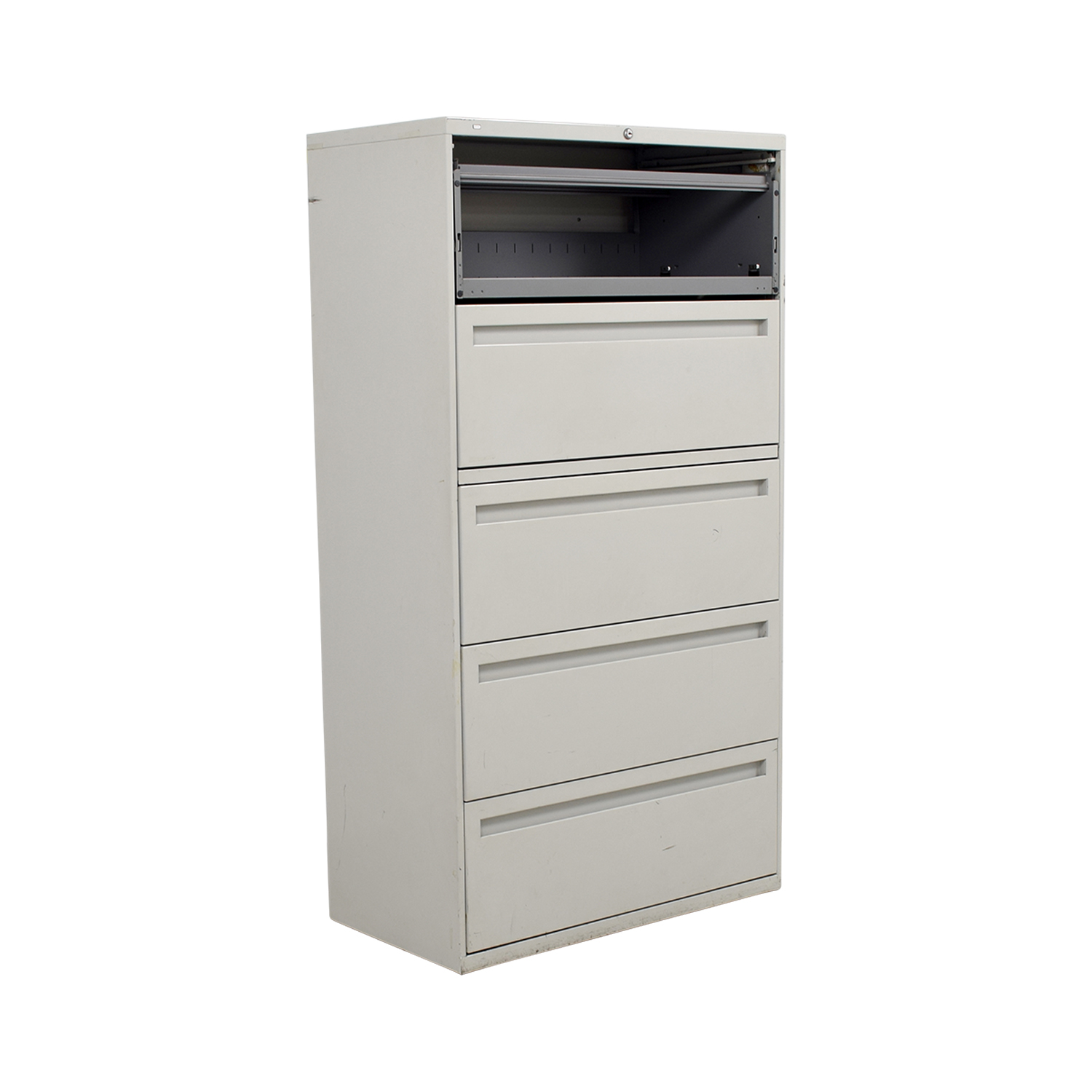 Hon Hon White Five Drawer Lateral File Cabinet nyc