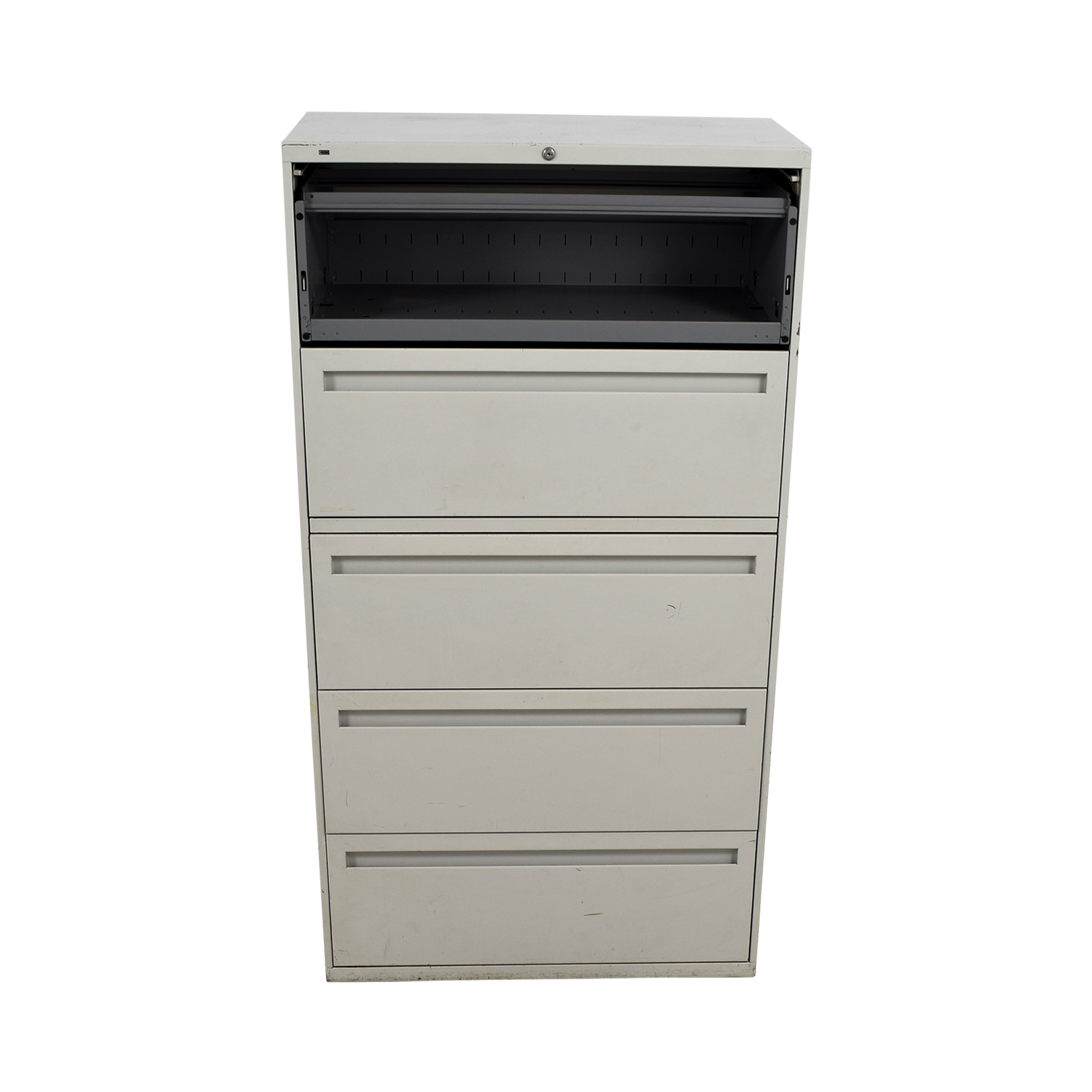 buy Hon White Five Drawer Lateral File Cabinet Hon