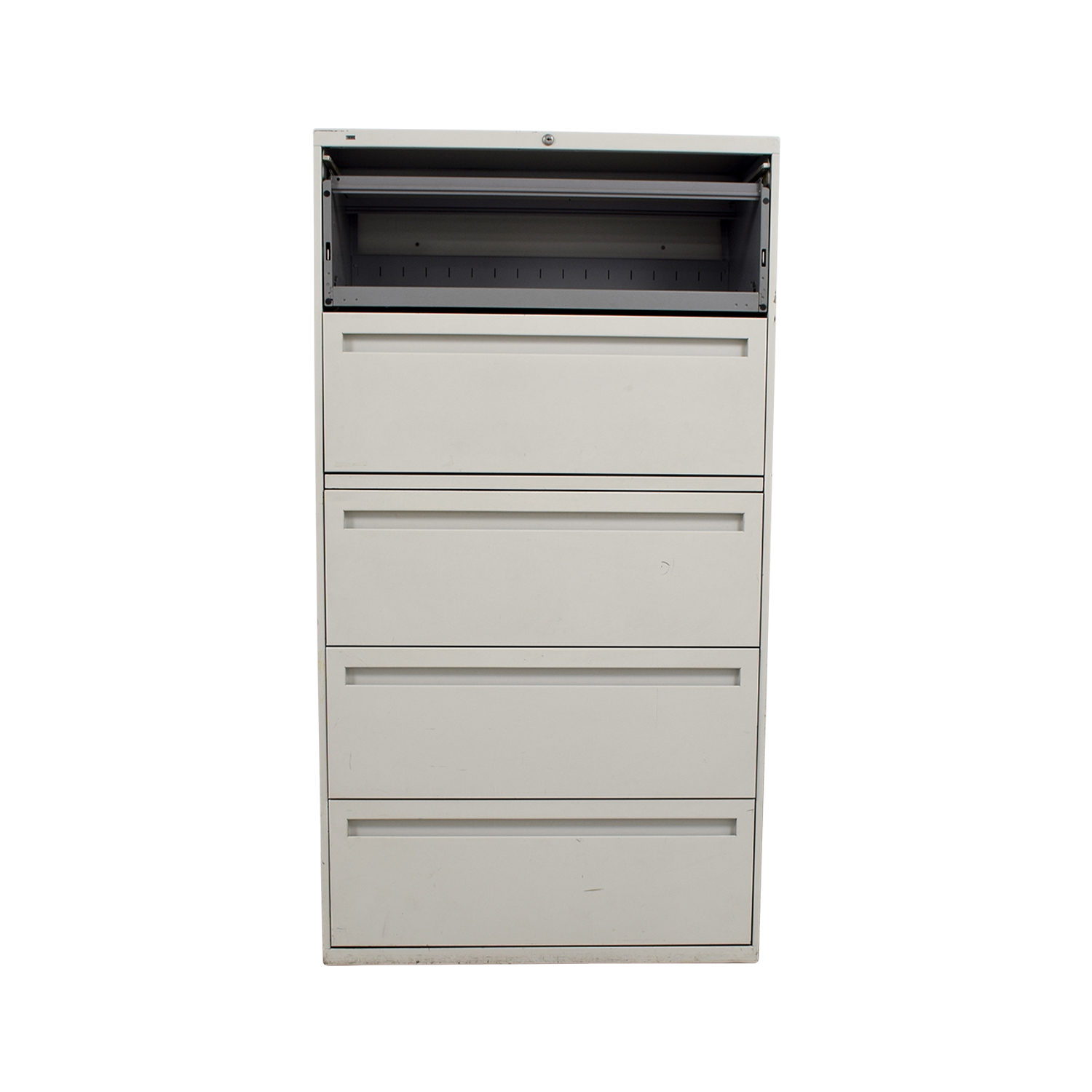 Hon Hon White Five Drawer Lateral File Cabinet