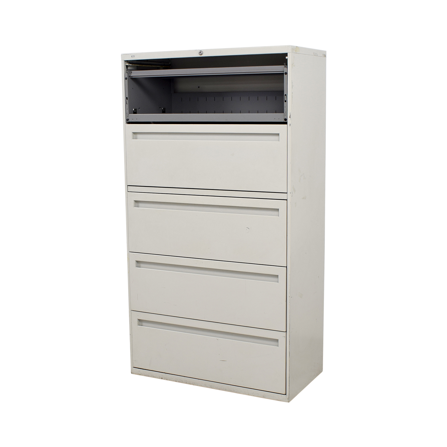 90 Off Hon Hon White Five Drawer Lateral File Cabinet Storage
