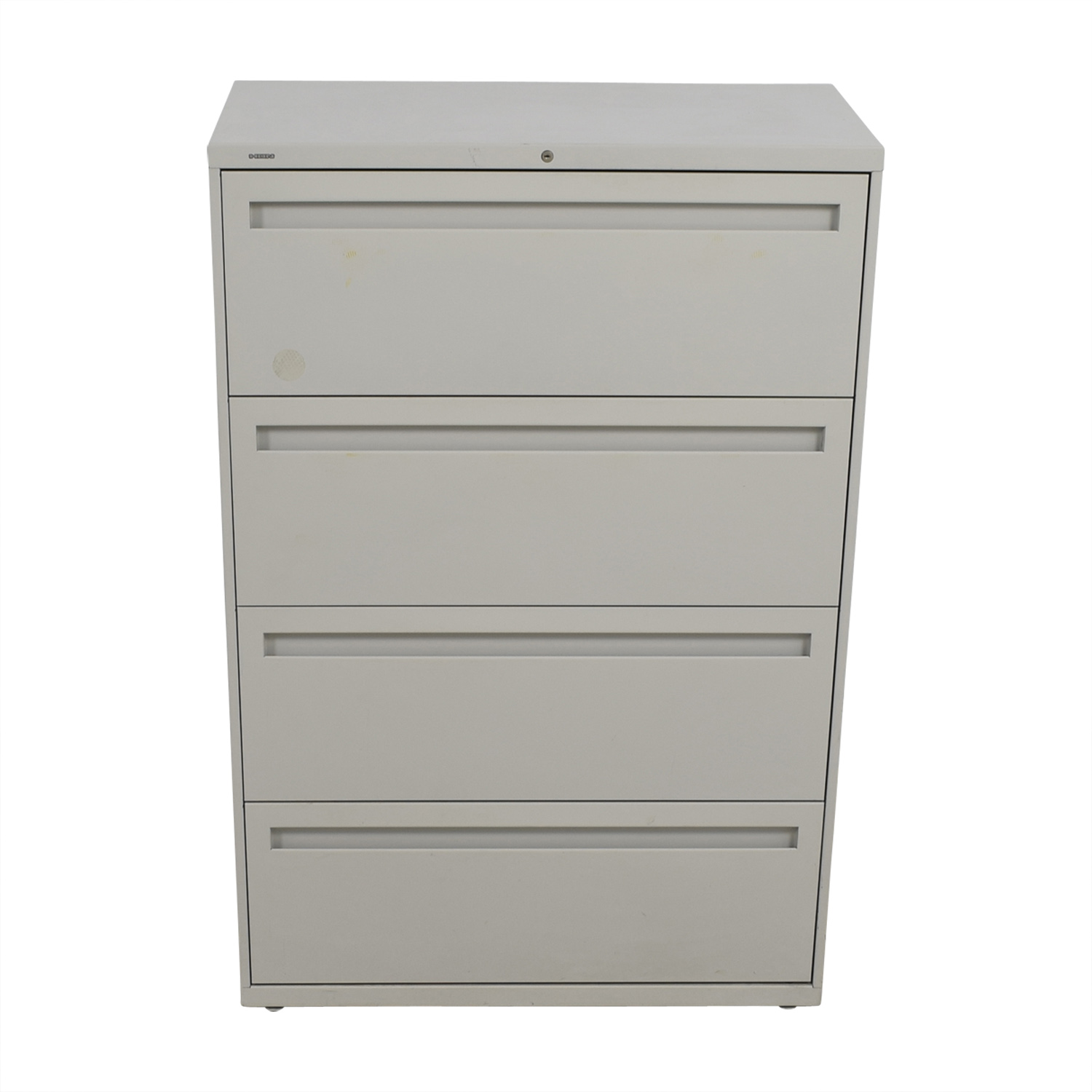 shop Hon Grey Four Drawer Lateral File Cabinet Hon Storage
