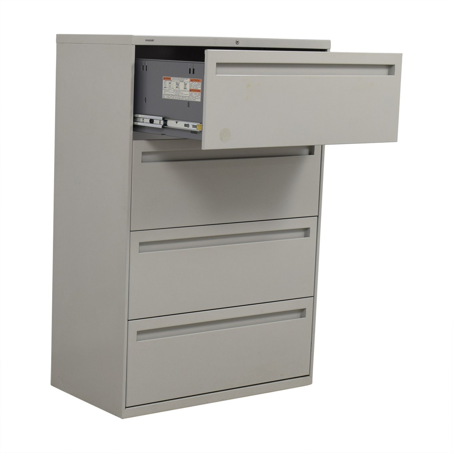 90 Off Hon Hon Grey Four Drawer Lateral File Cabinet