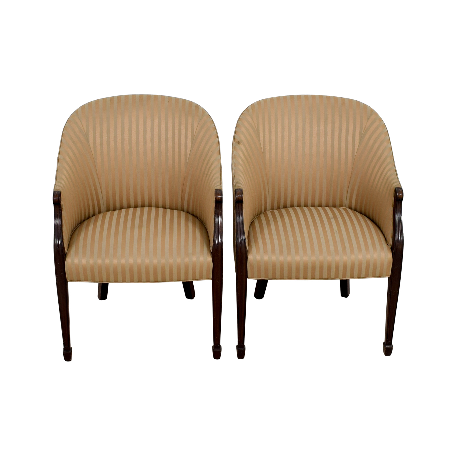 90 off paoli paoli gold striped accent chairs chairs. Black Bedroom Furniture Sets. Home Design Ideas