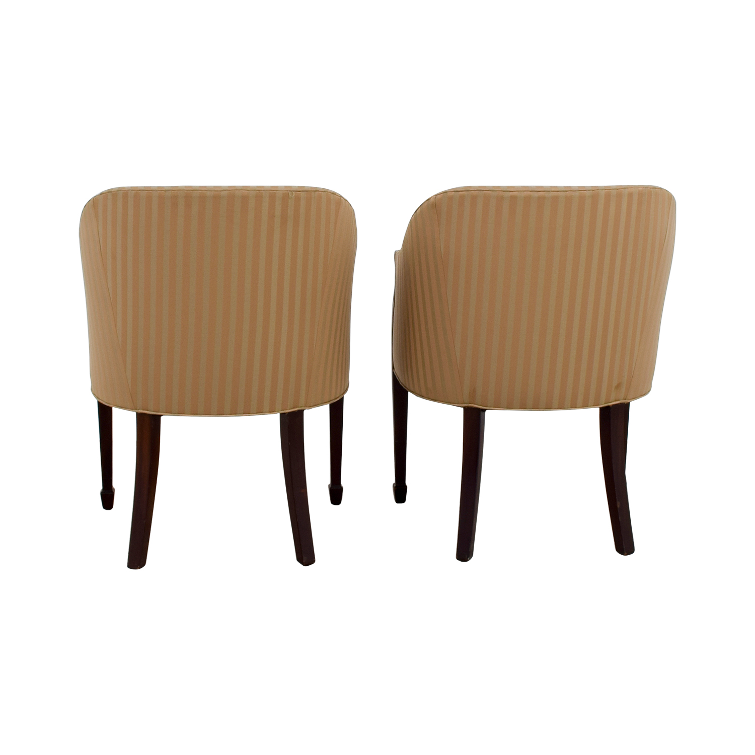 Paoli Paoli Gold Striped Accent Chairs discount