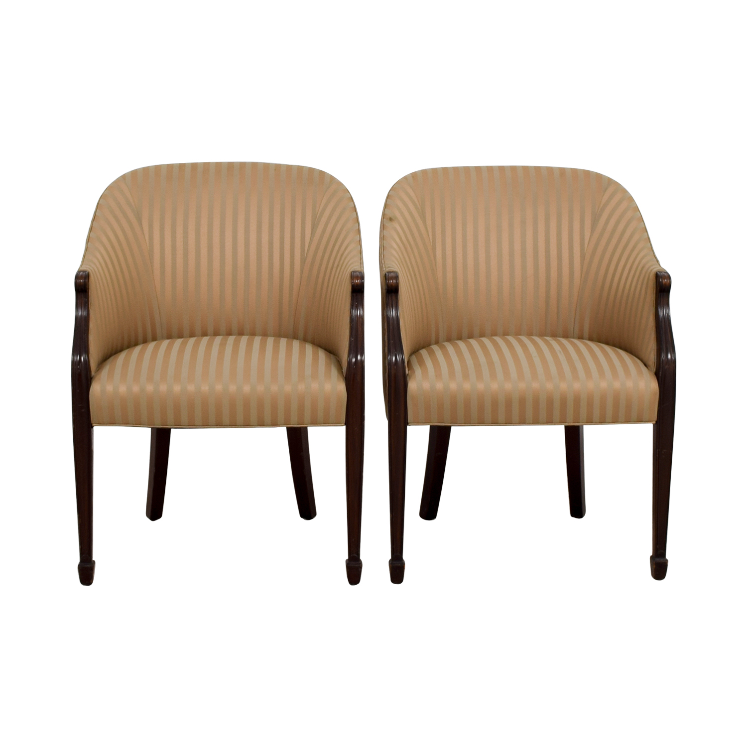Paoli Paoli Gold Striped Accent Chairs price